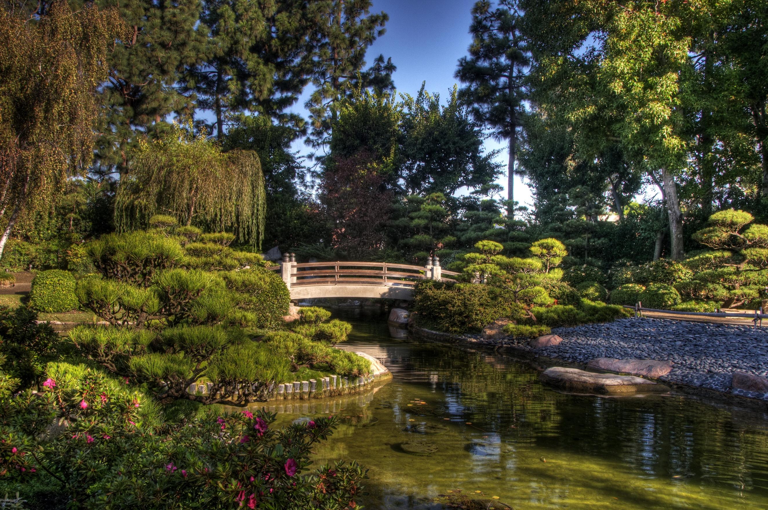 53784 fond d'écran 320x480 sur votre téléphone gratuitement, téléchargez des images Galet, Nature, Arbres, Végétation, Pont, Étang 320x480 sur votre mobile