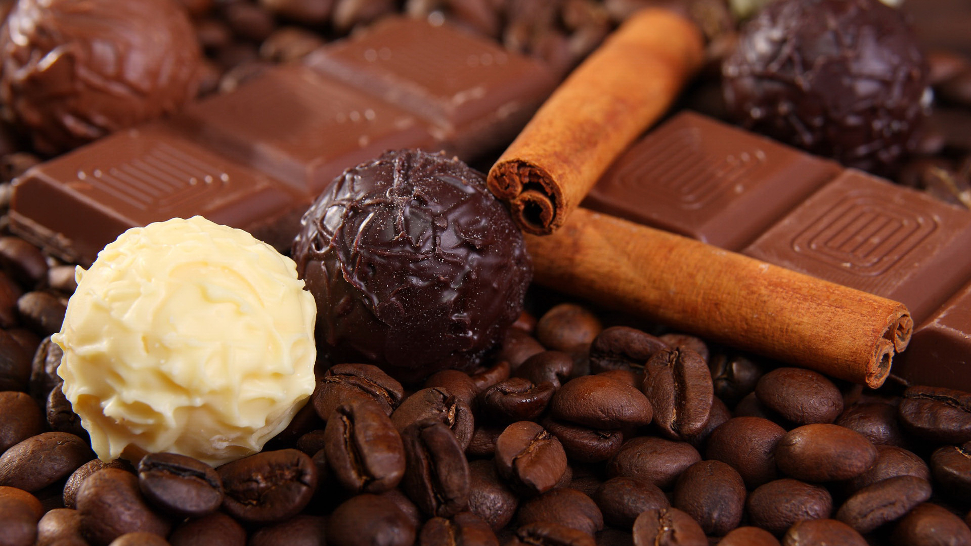 41374 download wallpaper Food, Background, Chocolate, Coffee, Cinnamon screensavers and pictures for free