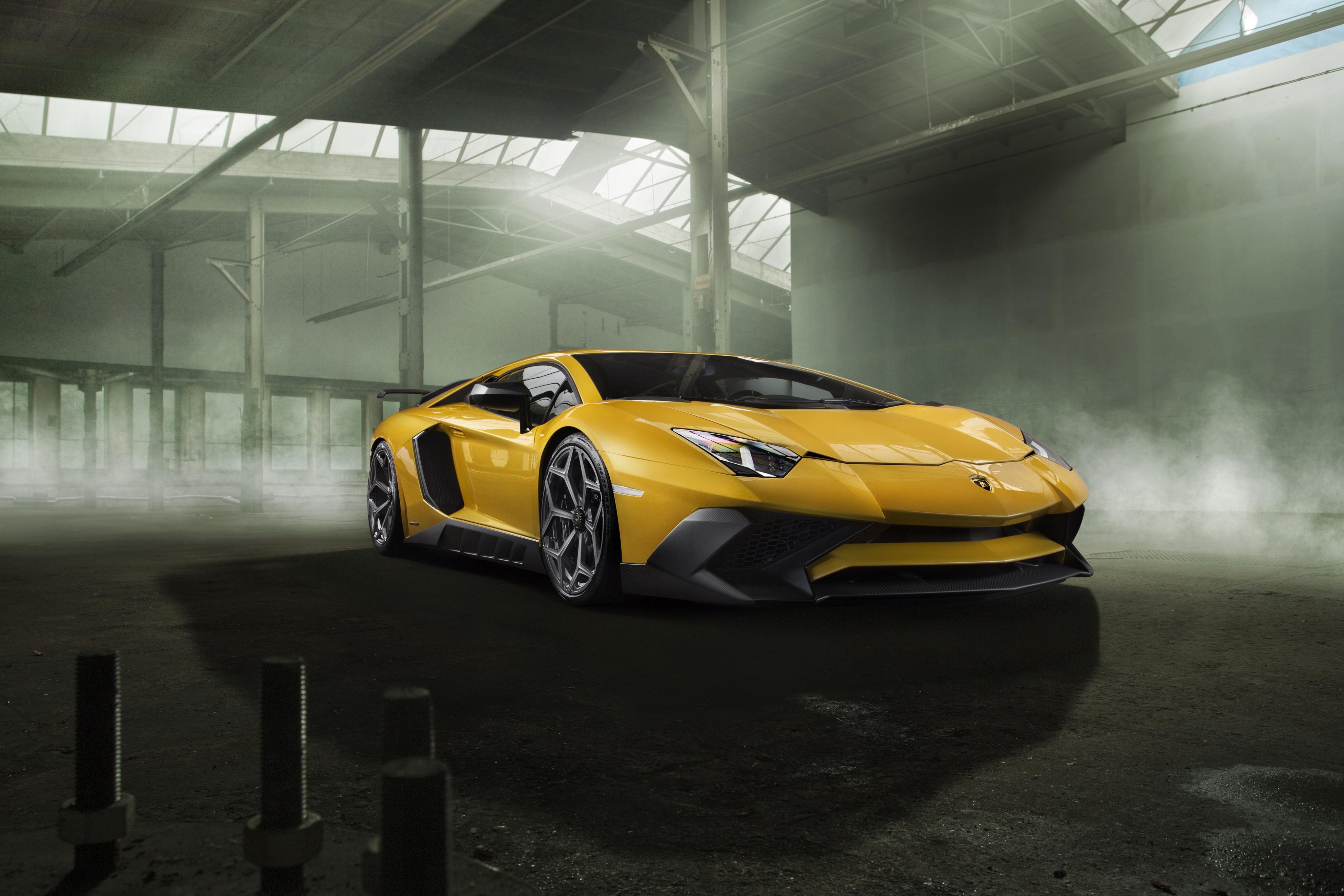 132535 Заставки и Обои Ламборджини (Lamborghini) на телефон. Скачать Ламборджини (Lamborghini), Тачки (Cars), Вид Сбоку, Желтый, Aventador картинки бесплатно