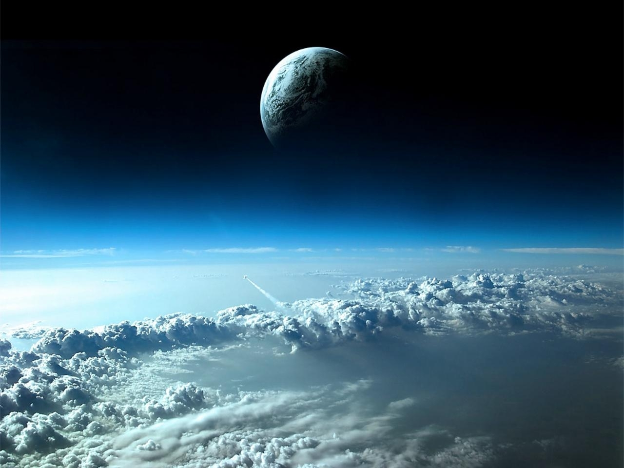 26192 download wallpaper Universe, Landscape, Sky, Planets, Clouds screensavers and pictures for free