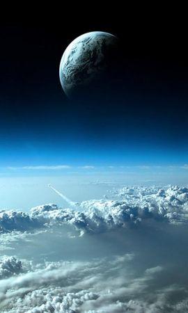 26192 скачать обои Пейзаж, Небо, Планеты, Космос, Облака - заставки и картинки бесплатно