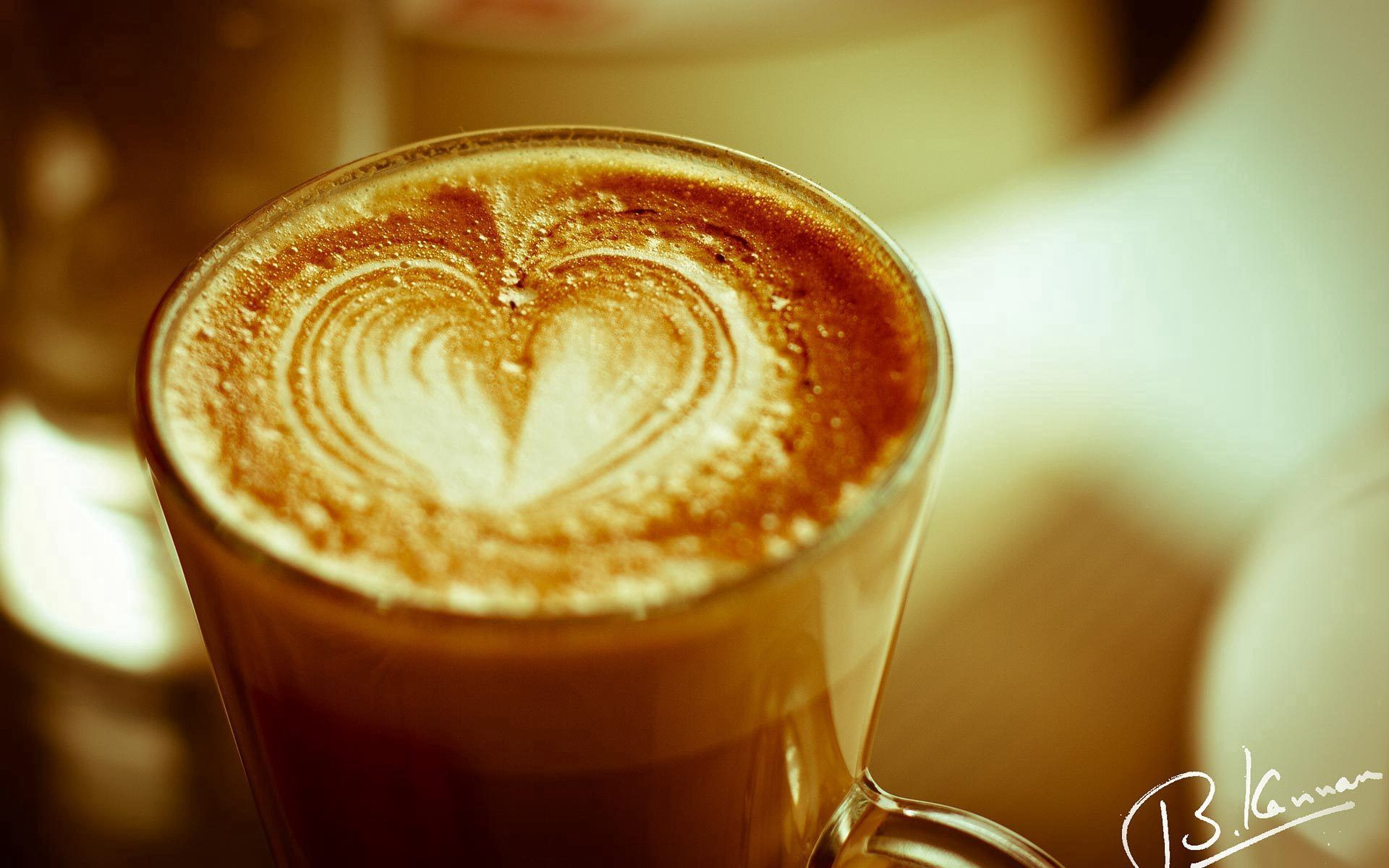 144625 download wallpaper Food, Coffee, Heart, Confession, Foam, Meerschaum, Signature screensavers and pictures for free