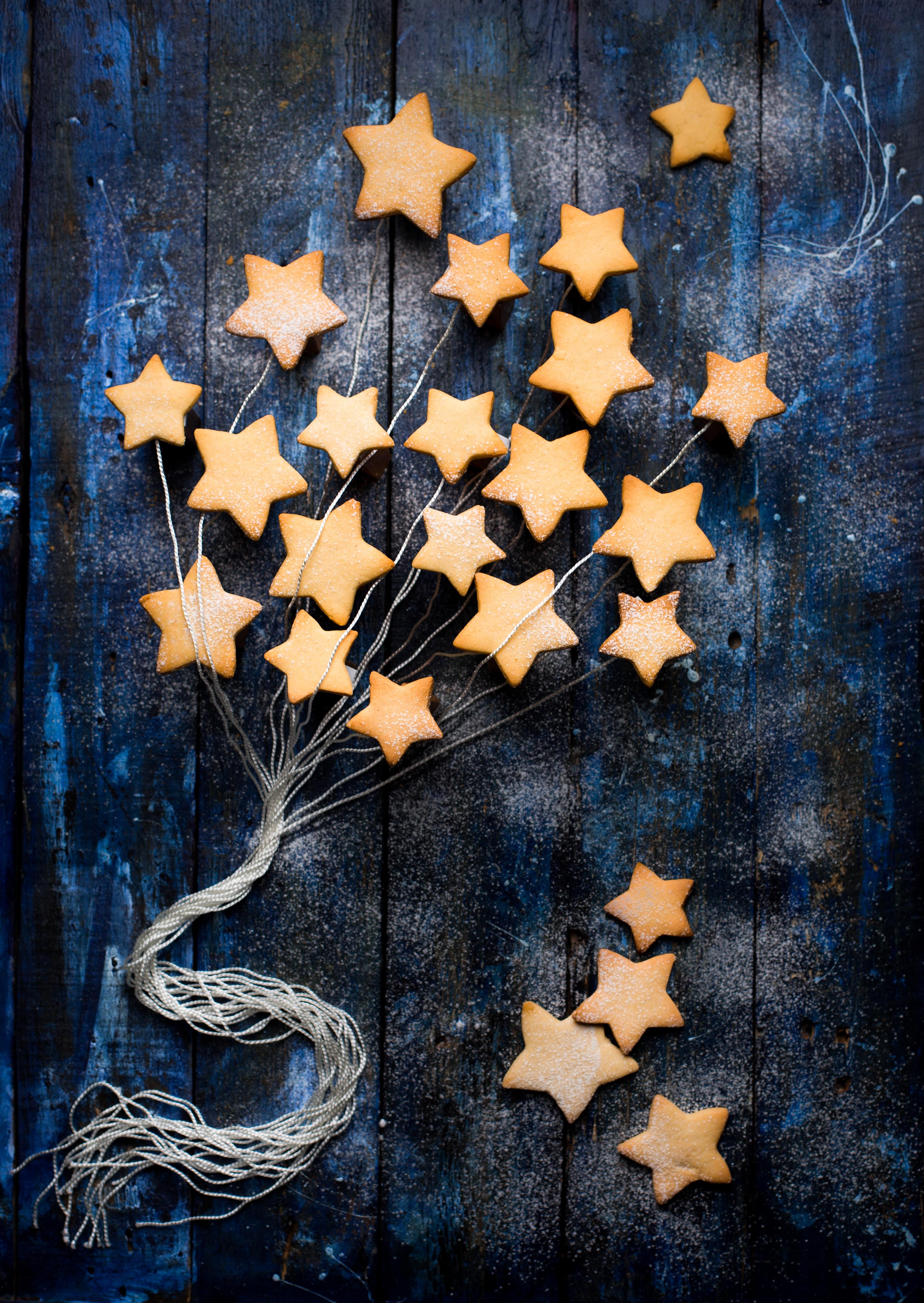 153745 скачать обои Еда, Печенье, Выпечка, Сладкое, Звезды - заставки и картинки бесплатно