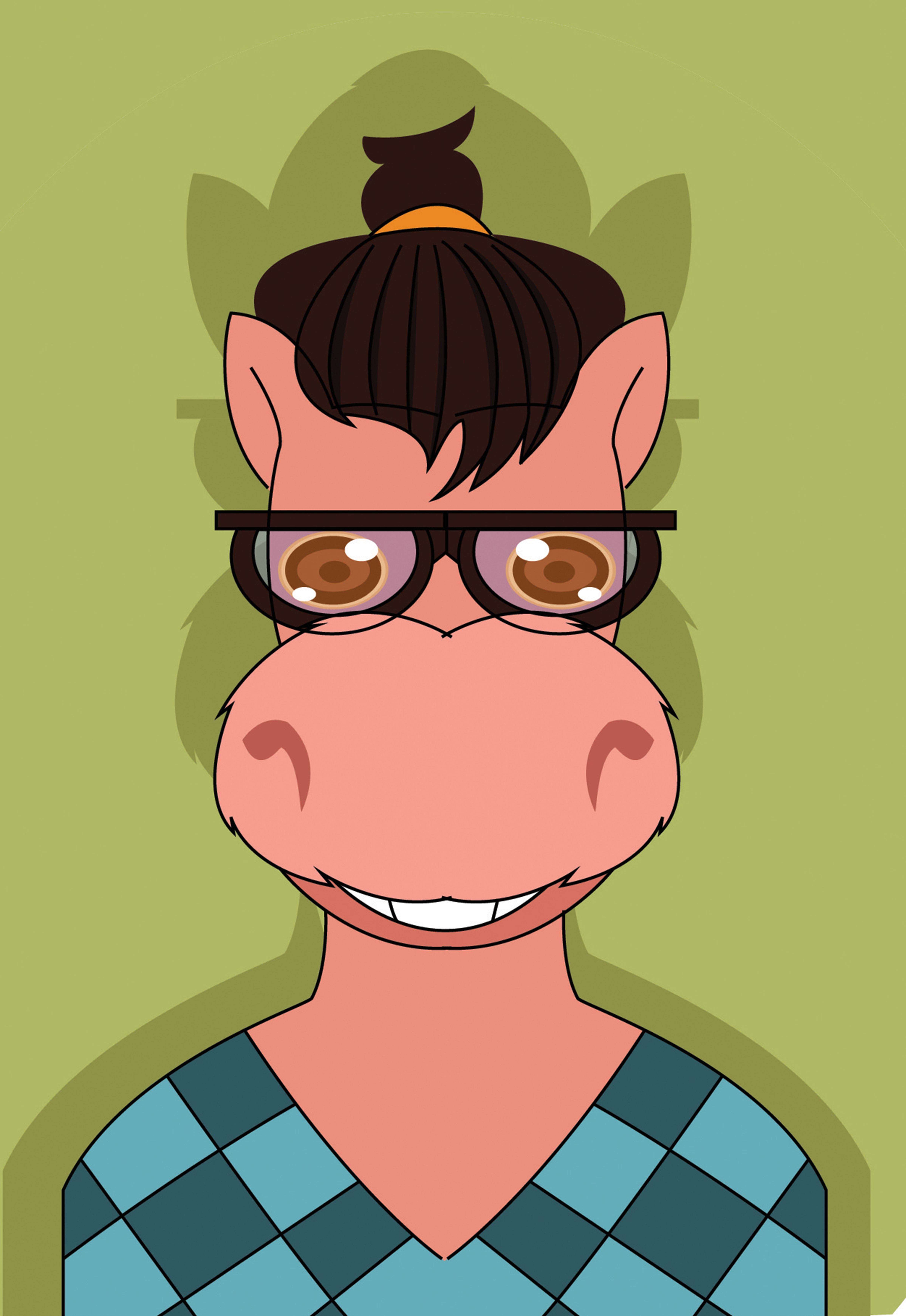 102835 download wallpaper Donkey, Art, Glasses, Spectacles, Sweater, Vector screensavers and pictures for free