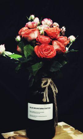 96854 скачать обои Цветы, Букет, Красные Розы, Розы - заставки и картинки бесплатно