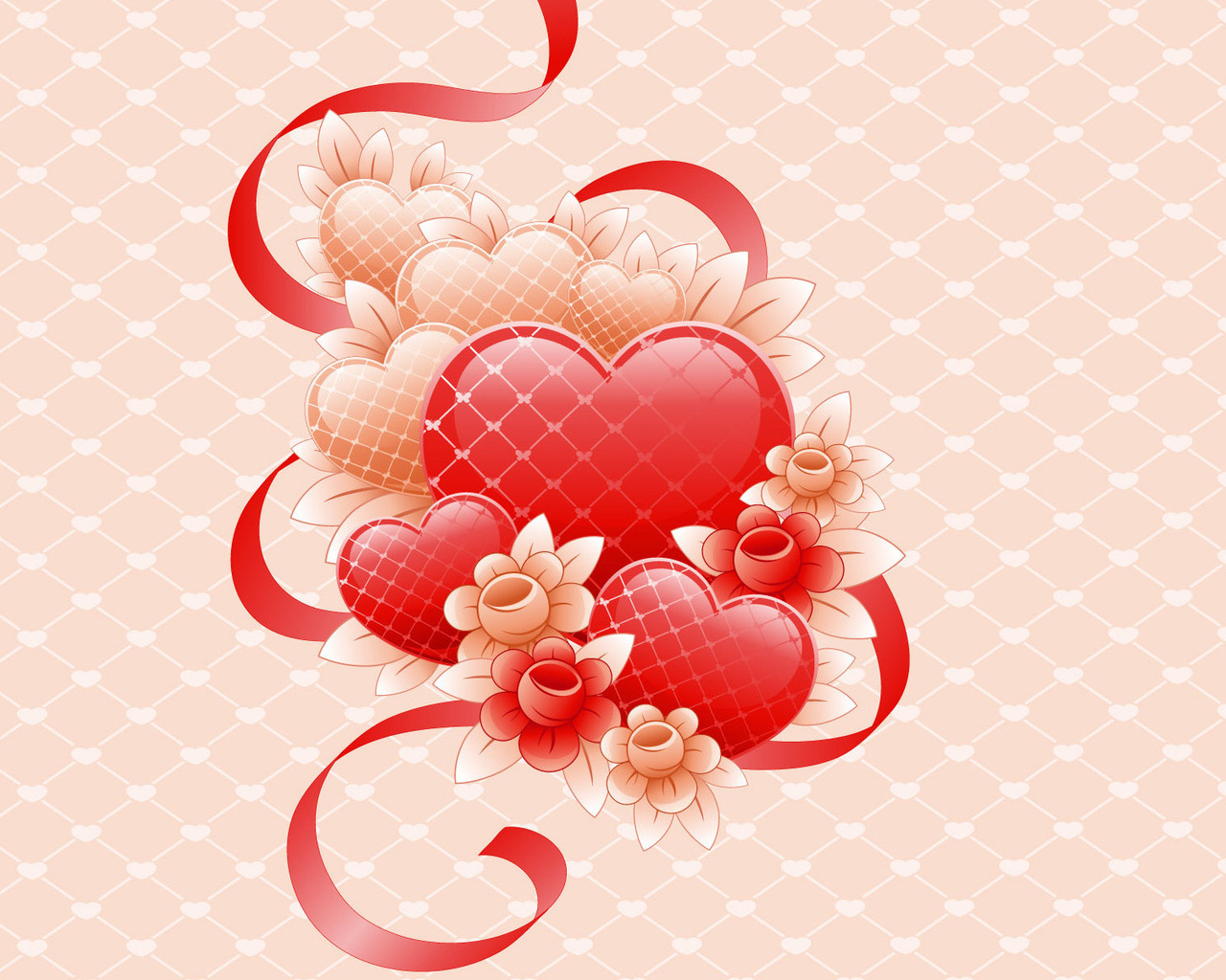 14319 download wallpaper Flowers, Background, Hearts, Love screensavers and pictures for free