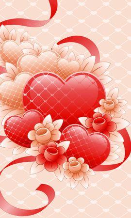 14319 télécharger le fond d'écran Fleurs, Contexte, Cœurs, Amour - économiseurs d'écran et images gratuitement