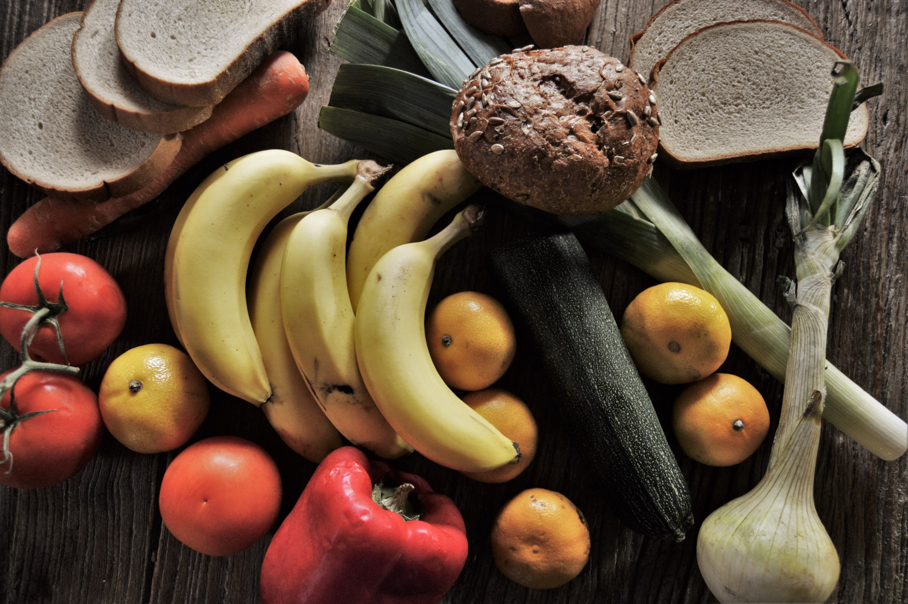 94593 Заставки и Обои Овощи на телефон. Скачать Бананы, Фрукты, Еда, Овощи, Мандарины картинки бесплатно