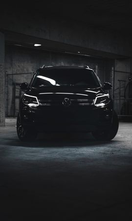 88202 Screensavers and Wallpapers Volkswagen for phone. Download Cars, Volkswagen Tiguan, Volkswagen, Car, Machine, Dark, Suv pictures for free