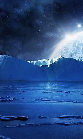 21713 скачать обои Пейзаж, Планеты, Космос, Лед, Звезды - заставки и картинки бесплатно