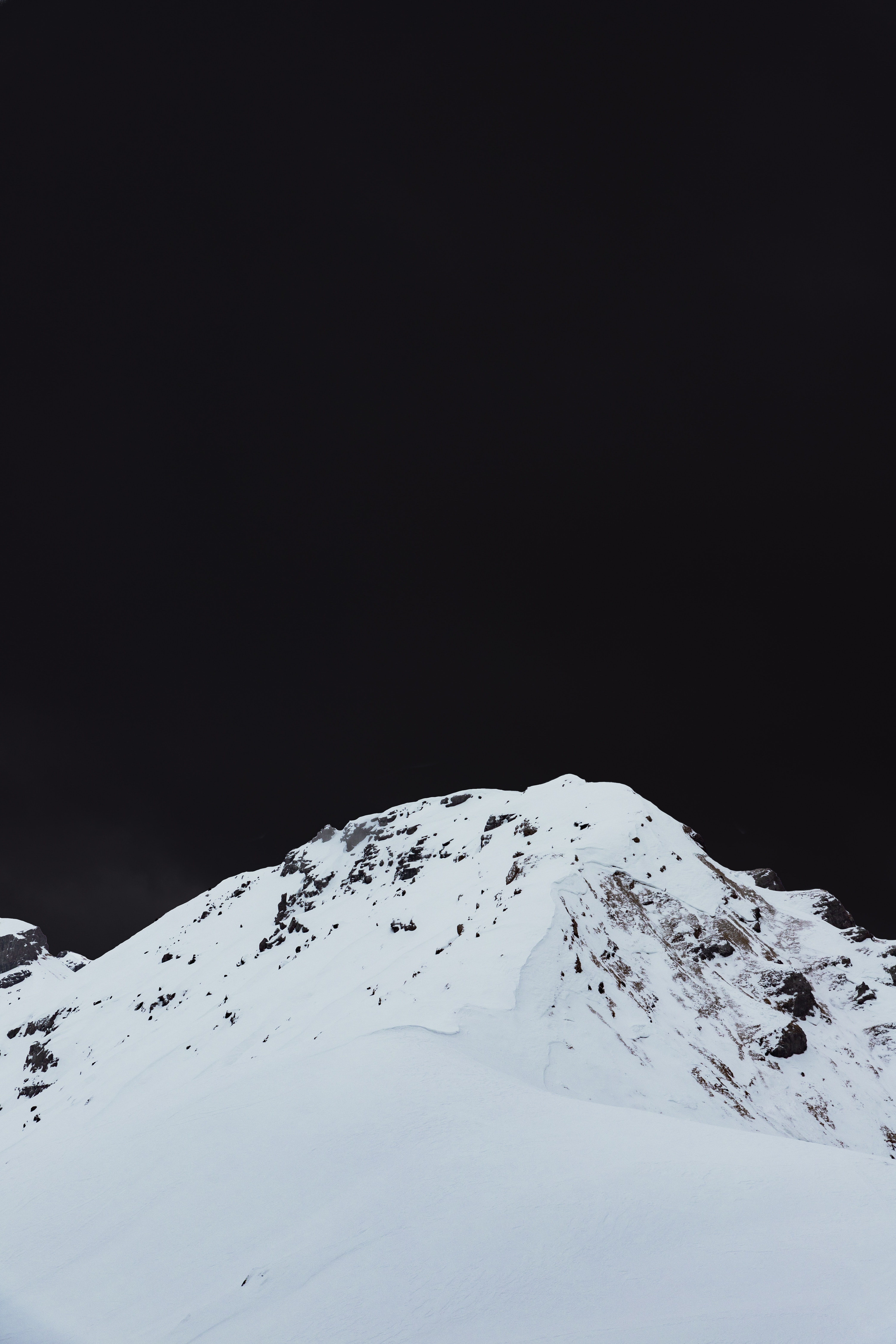 66468 download wallpaper Nature, Mountain, Vertex, Top, Snow Covered, Snowbound, Winter, Landscape screensavers and pictures for free