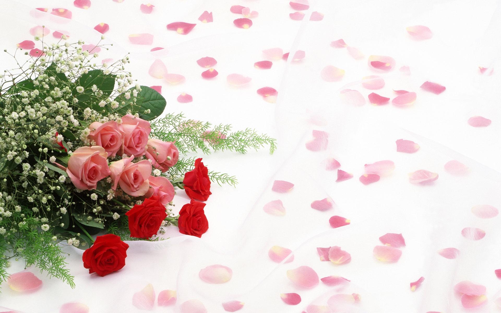 35829 скачать обои Растения, Цветы, Розы, Букеты - заставки и картинки бесплатно