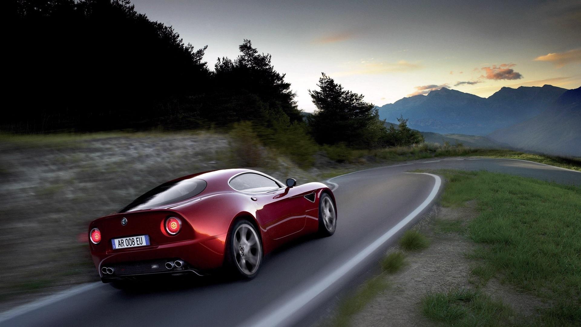 21693 скачать обои Транспорт, Машины, Дороги, Альфа Ромео (Alfa Romeo) - заставки и картинки бесплатно