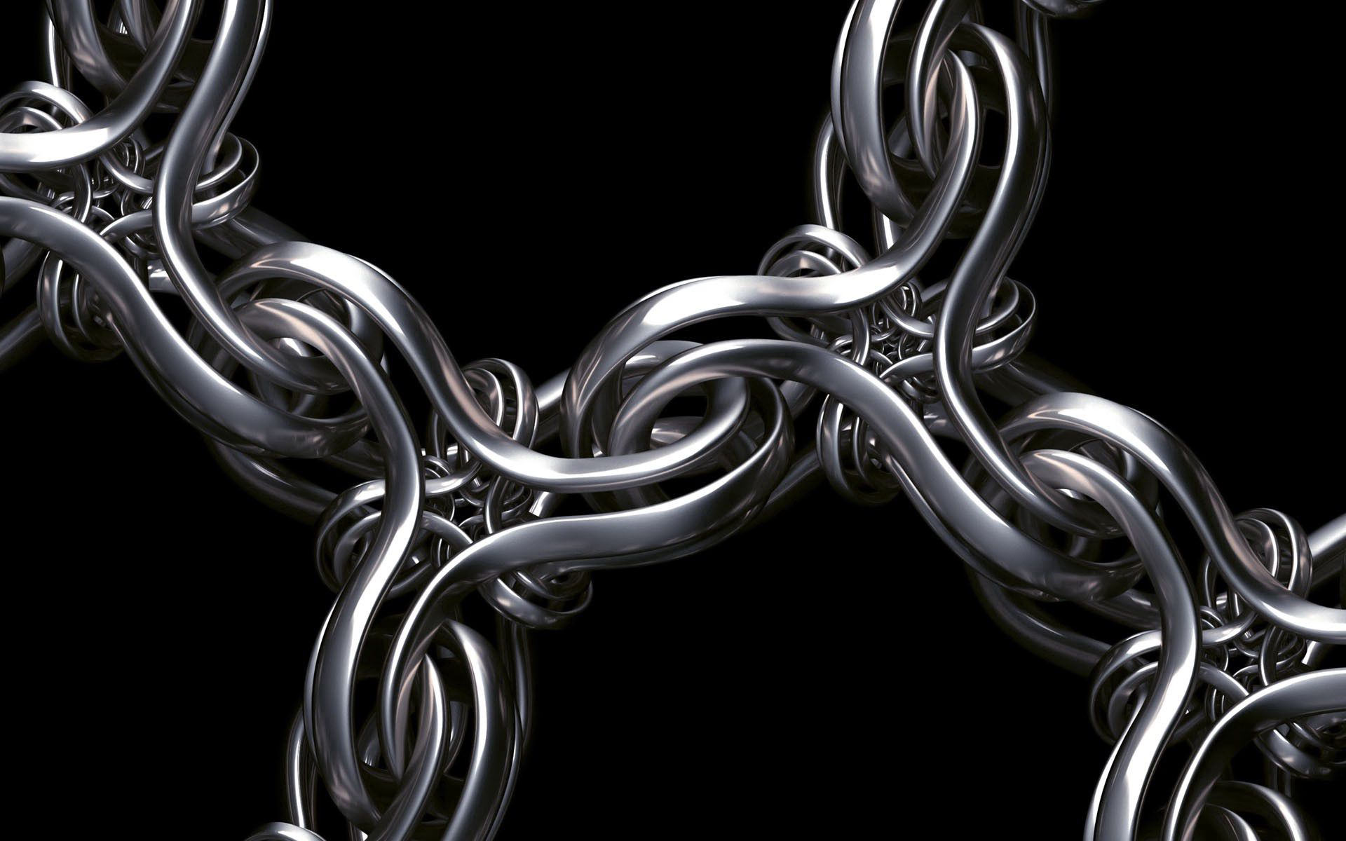 112762 download wallpaper 3D, Render, Chain, Weaving, Braiding, Silver, Serebo screensavers and pictures for free