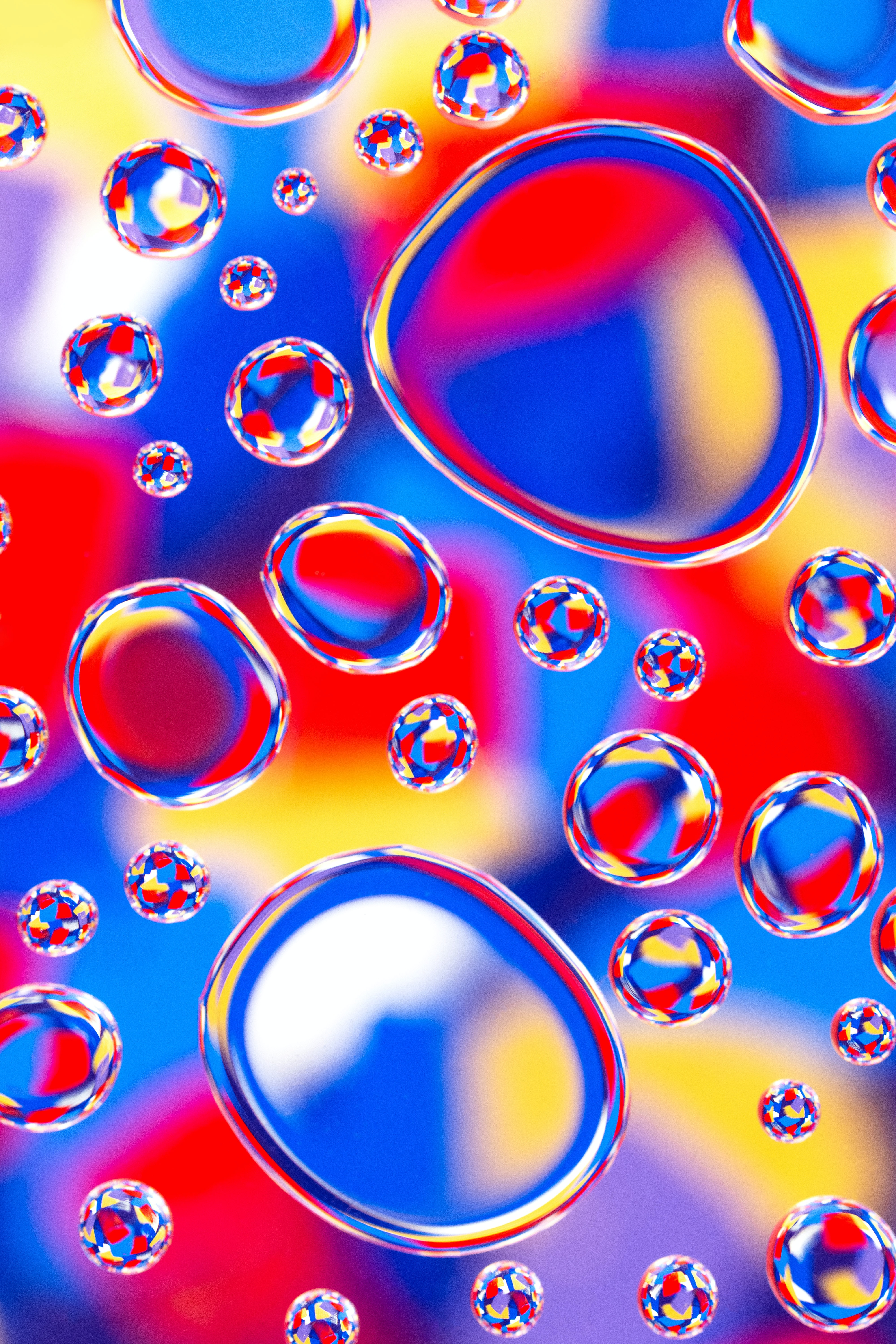 144611 download wallpaper Abstract, Form, Water, Multicolored, Motley, Reflection, Bubbles screensavers and pictures for free