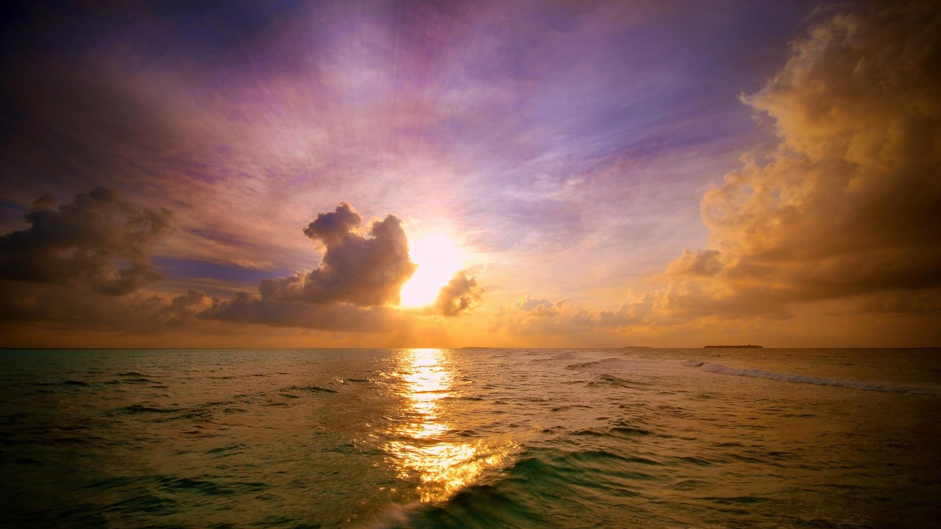 28741 скачать обои Пейзаж, Закат, Море, Облака - заставки и картинки бесплатно