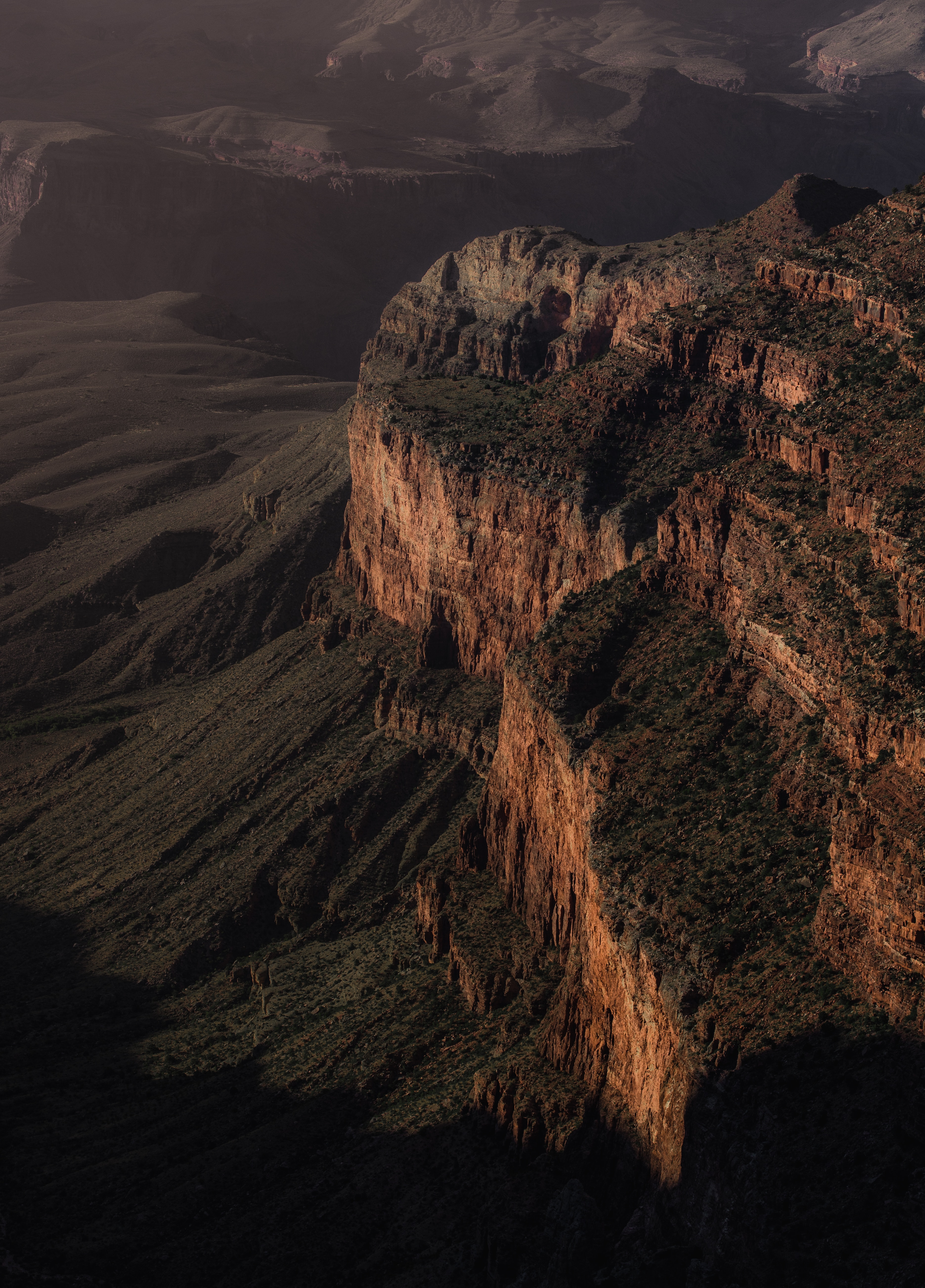69801 download wallpaper Nature, Canyon, Break, Precipice, View From Above, Mountains, Landscape screensavers and pictures for free