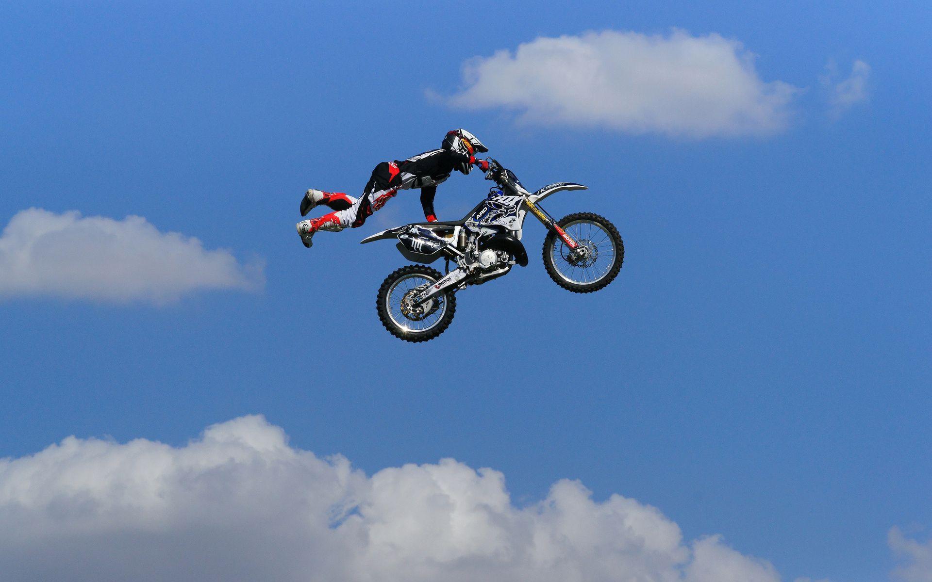 Descarga gratuita de fondo de pantalla para móvil de Motocross, Rebotar, Motocicleta, Saltar, Motocicletas, Hombre.
