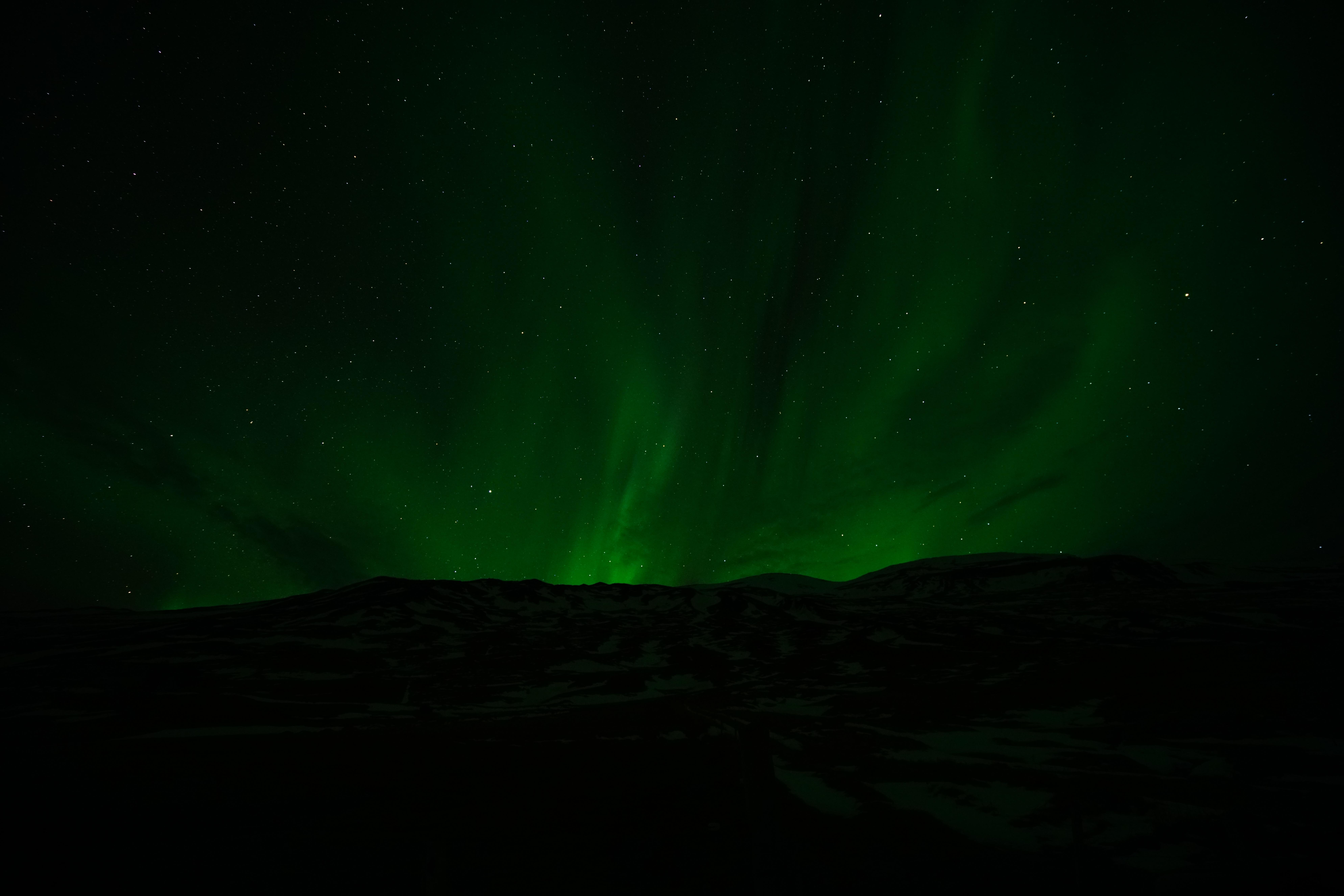 61376壁紙のダウンロードオーロラ, 北極光, 星空, ナイト, 宇宙-スクリーンセーバーと写真を無料で