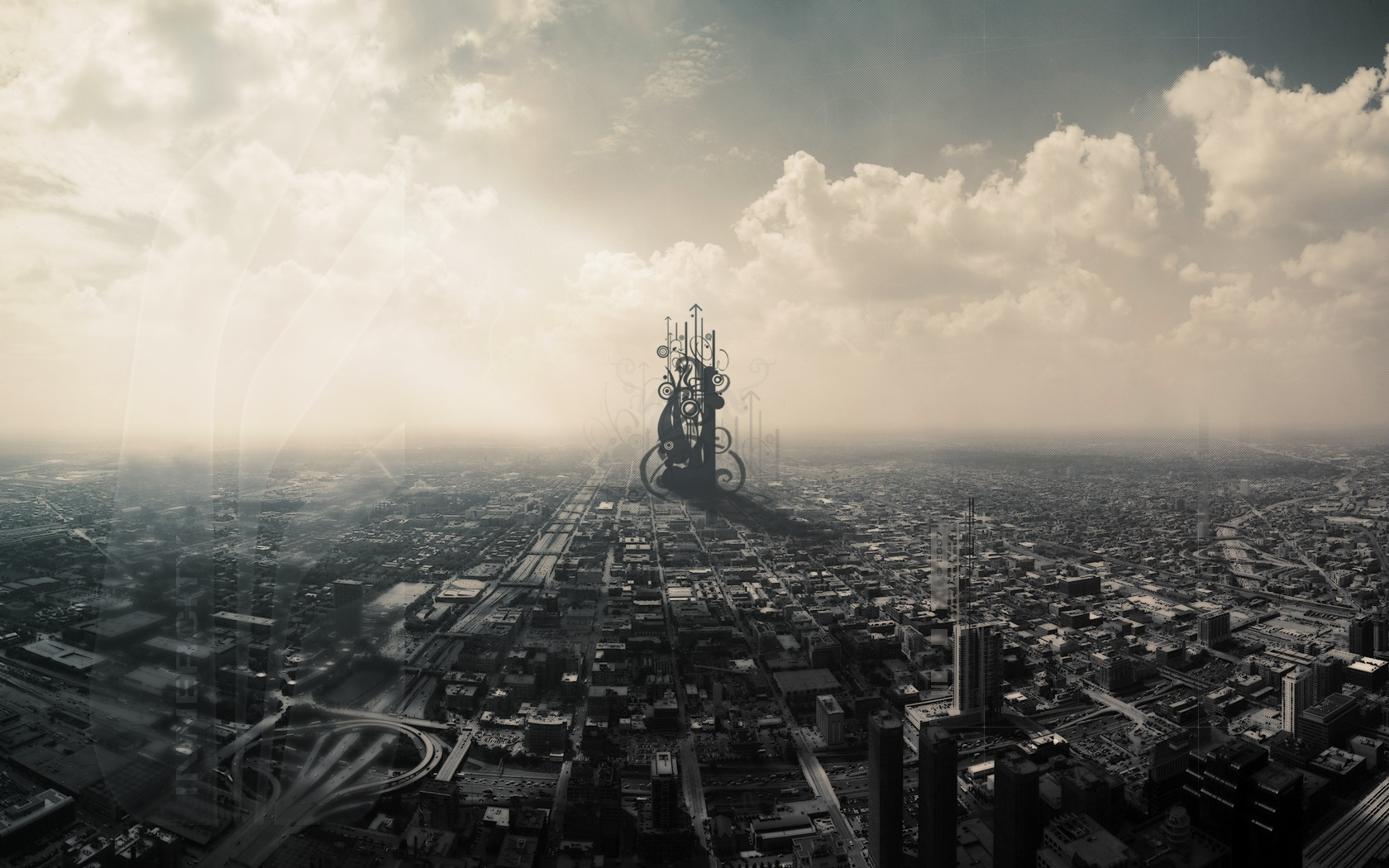 942 download wallpaper Landscape, Cities, Sky, Art screensavers and pictures for free