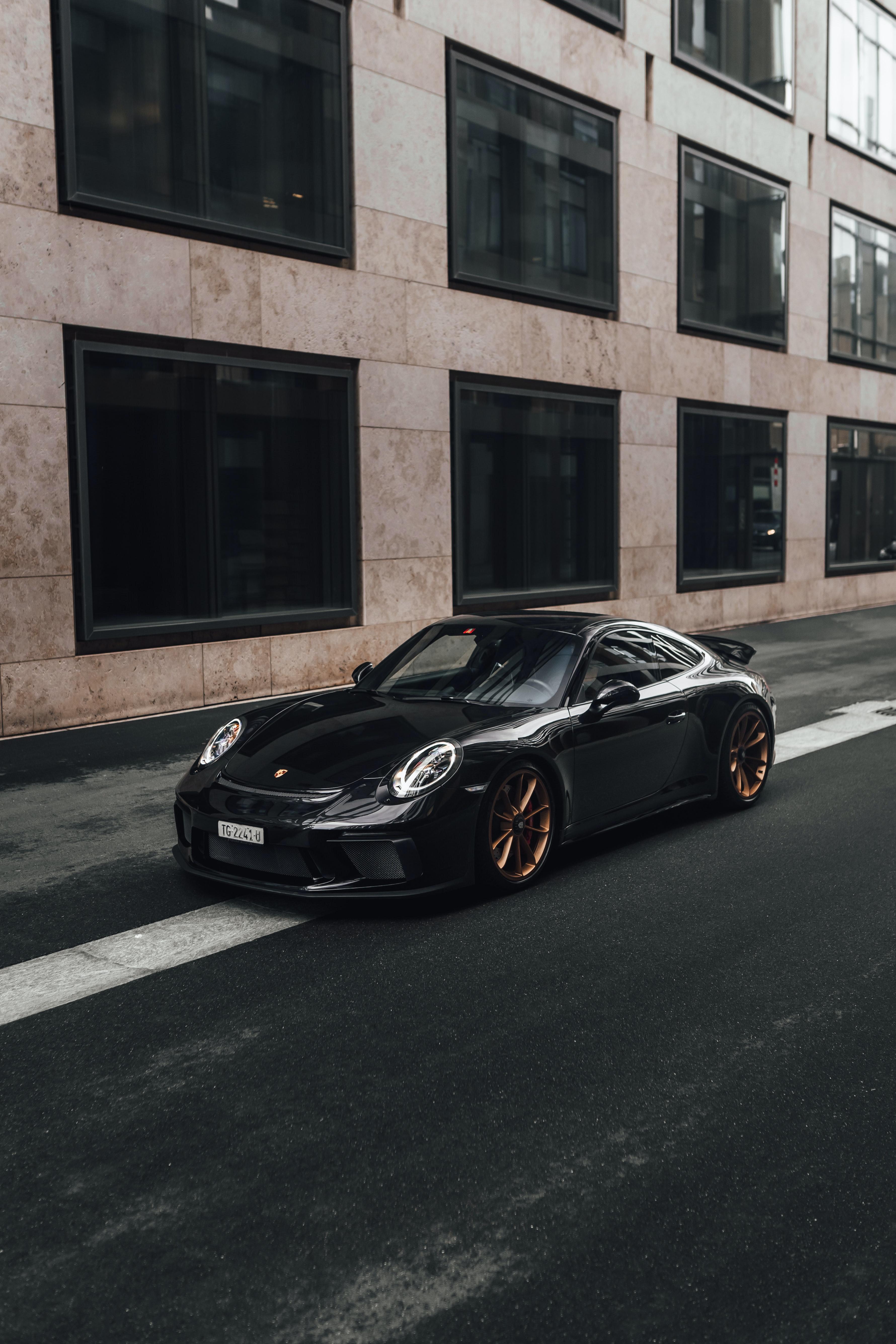 129806 Заставки и Обои Порш (Porsche) на телефон. Скачать Porsche 911, Порш (Porsche), Черный, Тачки (Cars), Автомобиль, Спорткар картинки бесплатно