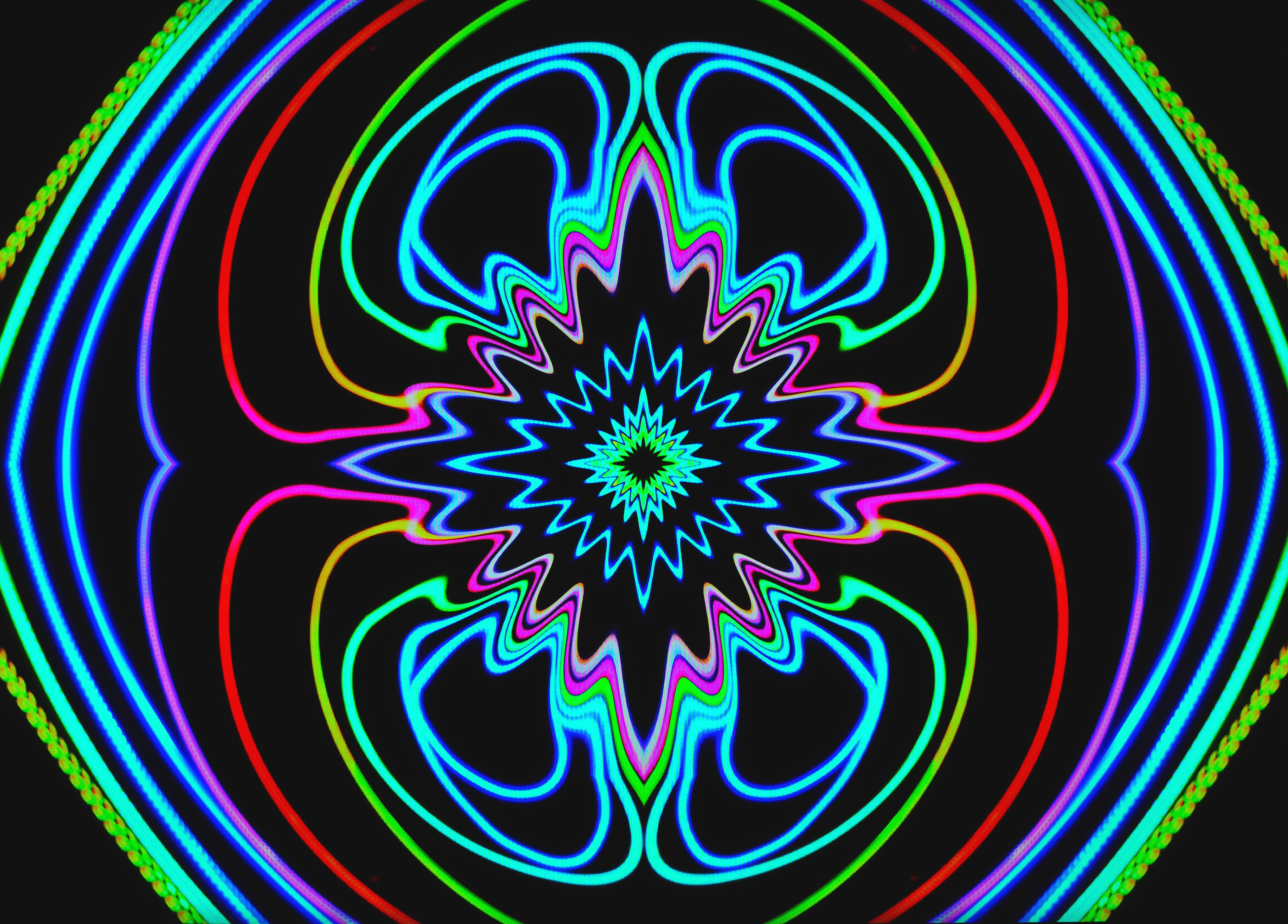 Download mobile wallpaper Neon, Glow, Pattern, Fractal, Abstract for free.