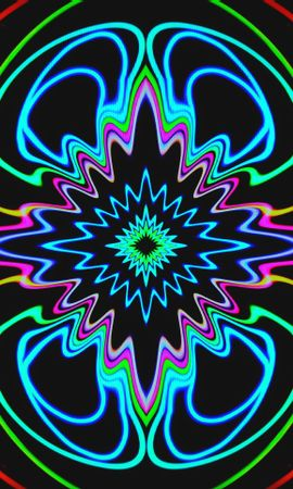 156913 download wallpaper Abstract, Fractal, Pattern, Neon, Glow screensavers and pictures for free
