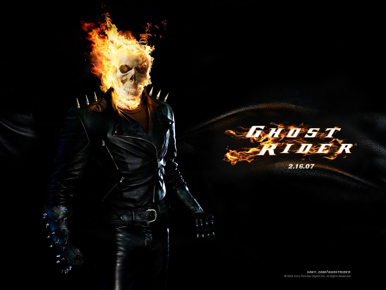 2663 download wallpaper Cinema, Actors, Men, Ghost Rider, Nicolas Cage screensavers and pictures for free