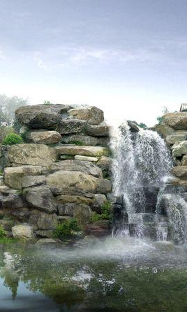 20821 скачать обои Пейзаж, Река, Водопады - заставки и картинки бесплатно