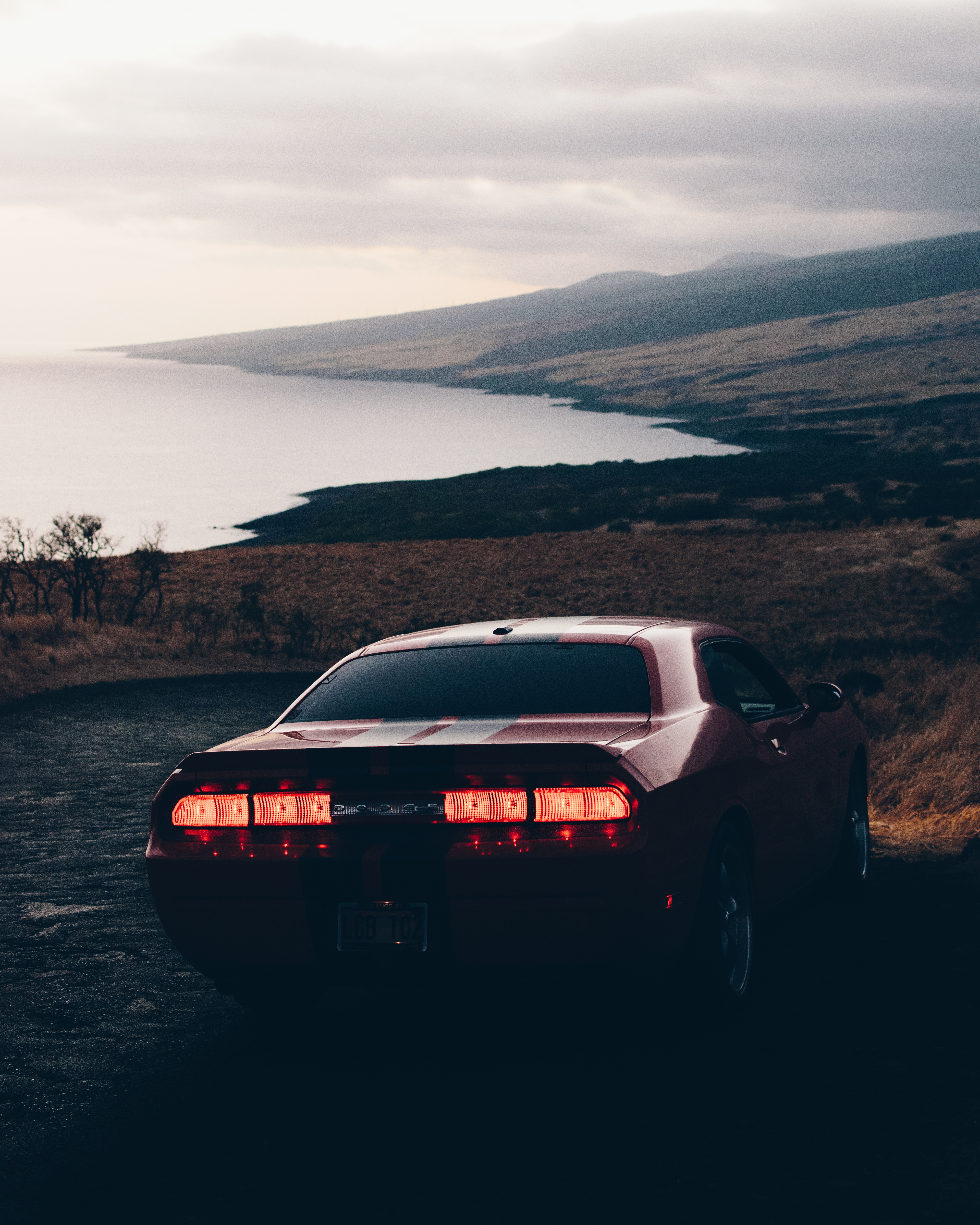 135836 Screensavers and Wallpapers Auto for phone. Download Auto, Cars, Lights, Evening, Back View, Rear View, Headlights pictures for free