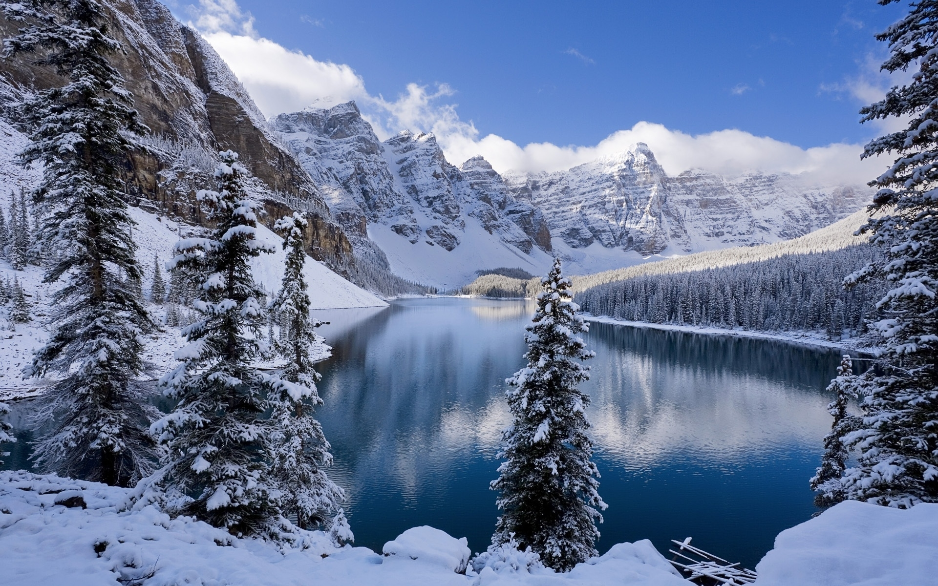 49809 download wallpaper Landscape, Winter, Nature, Lakes screensavers and pictures for free