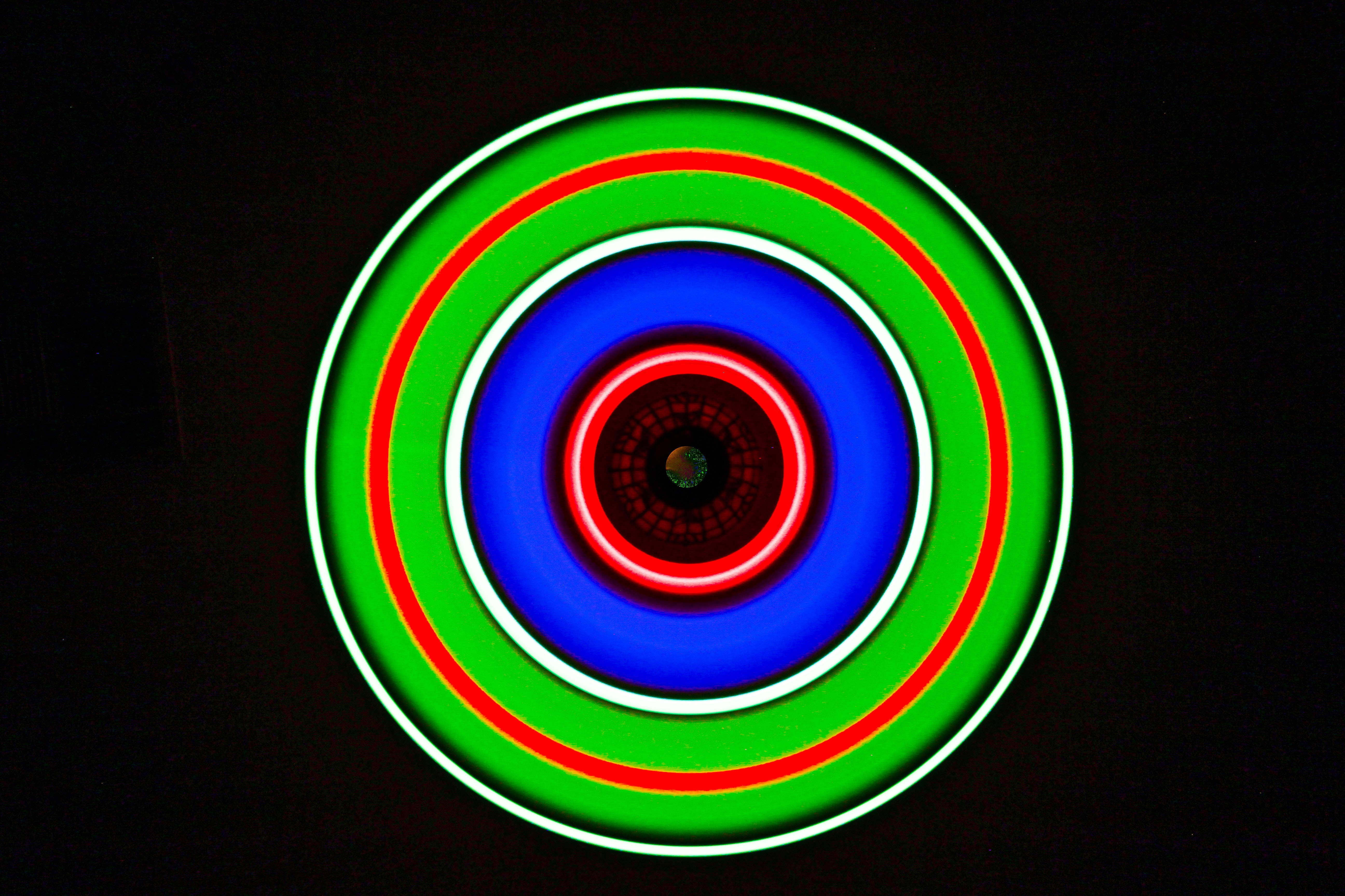 84293 download wallpaper Miscellanea, Miscellaneous, Circle, Glow, Neon, Multicolored, Motley screensavers and pictures for free