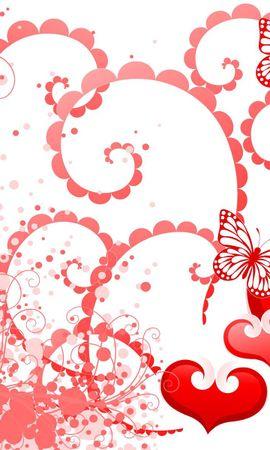 110102 descargar fondo de pantalla Vacaciones, Corazones, Mariposas, Fondo, Día De San Valentín, San Valentín: protectores de pantalla e imágenes gratis