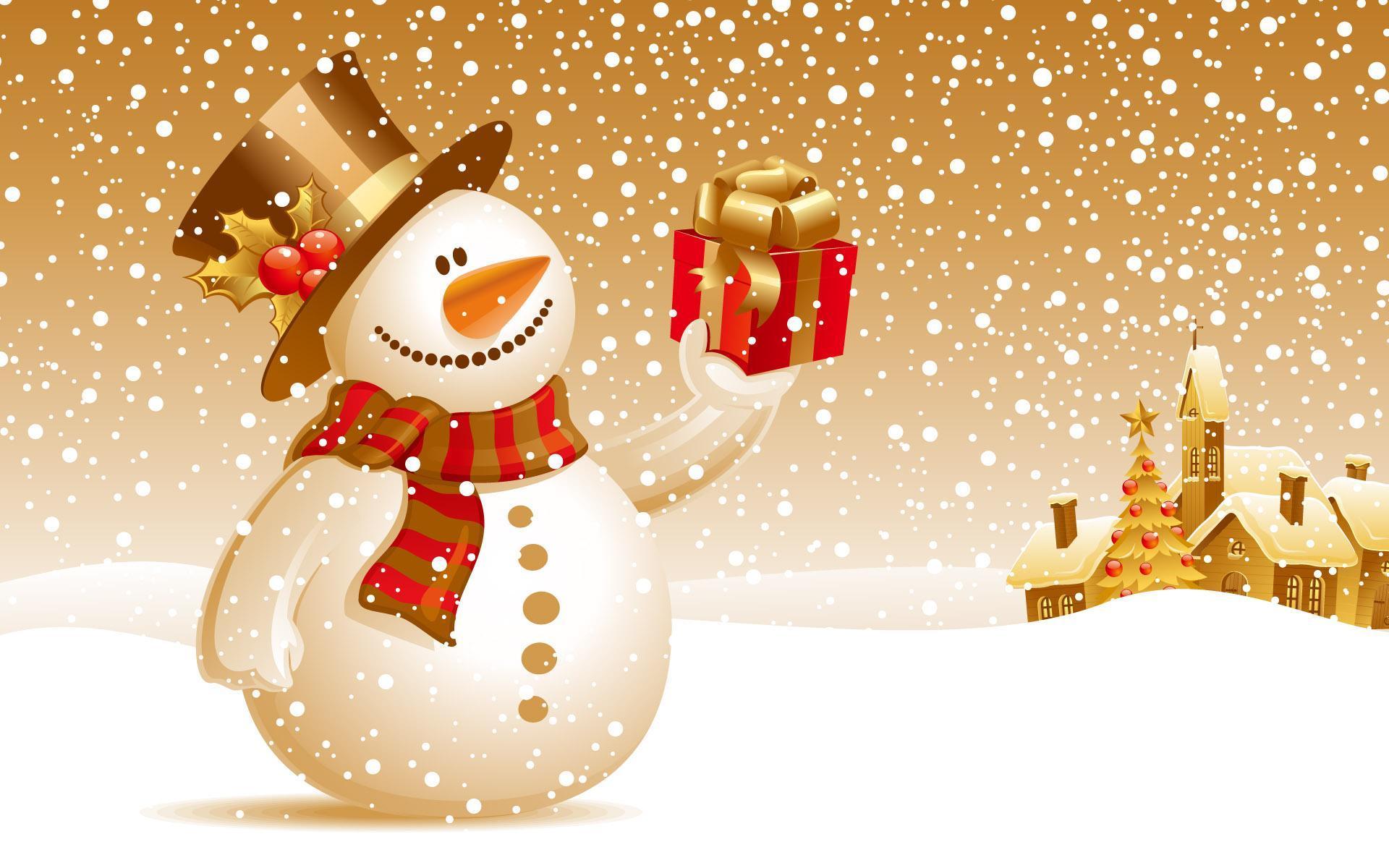 14101 скачать обои Праздники, Новый Год (New Year), Рождество (Christmas, Xmas), Рисунки, Снеговики - заставки и картинки бесплатно