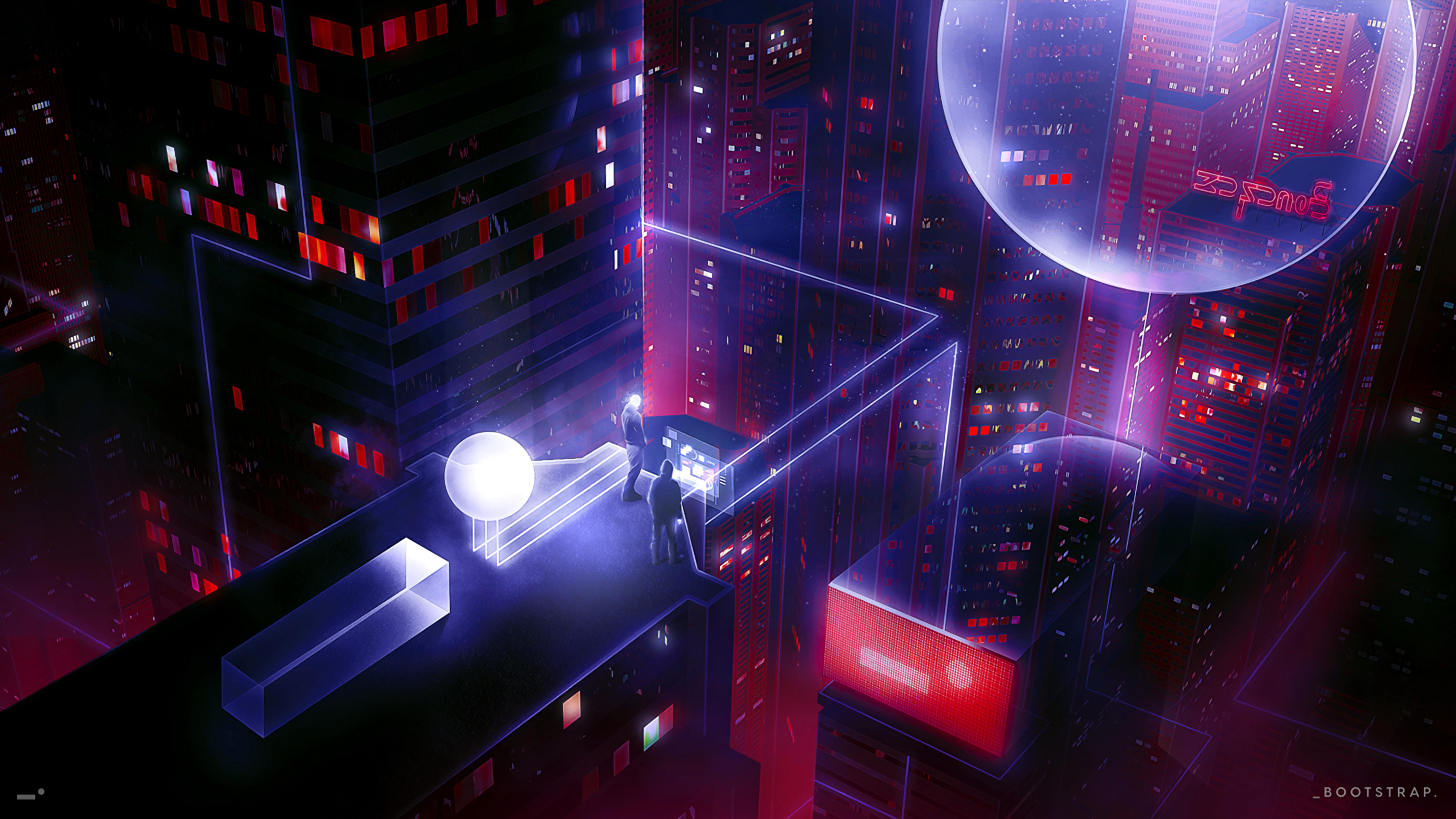 148595 fond d'écran 720x1280 sur votre téléphone gratuitement, téléchargez des images Personnes, Art, Cyberpunk, Toit, Science-Fiction 720x1280 sur votre mobile