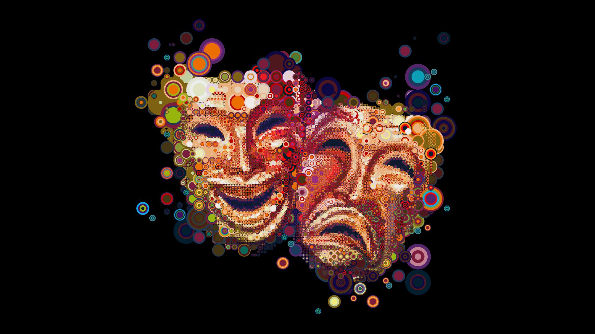 77906 download wallpaper Abstract, Masks, Multicolored, Motley, Colorful, Colourful, Emotions screensavers and pictures for free