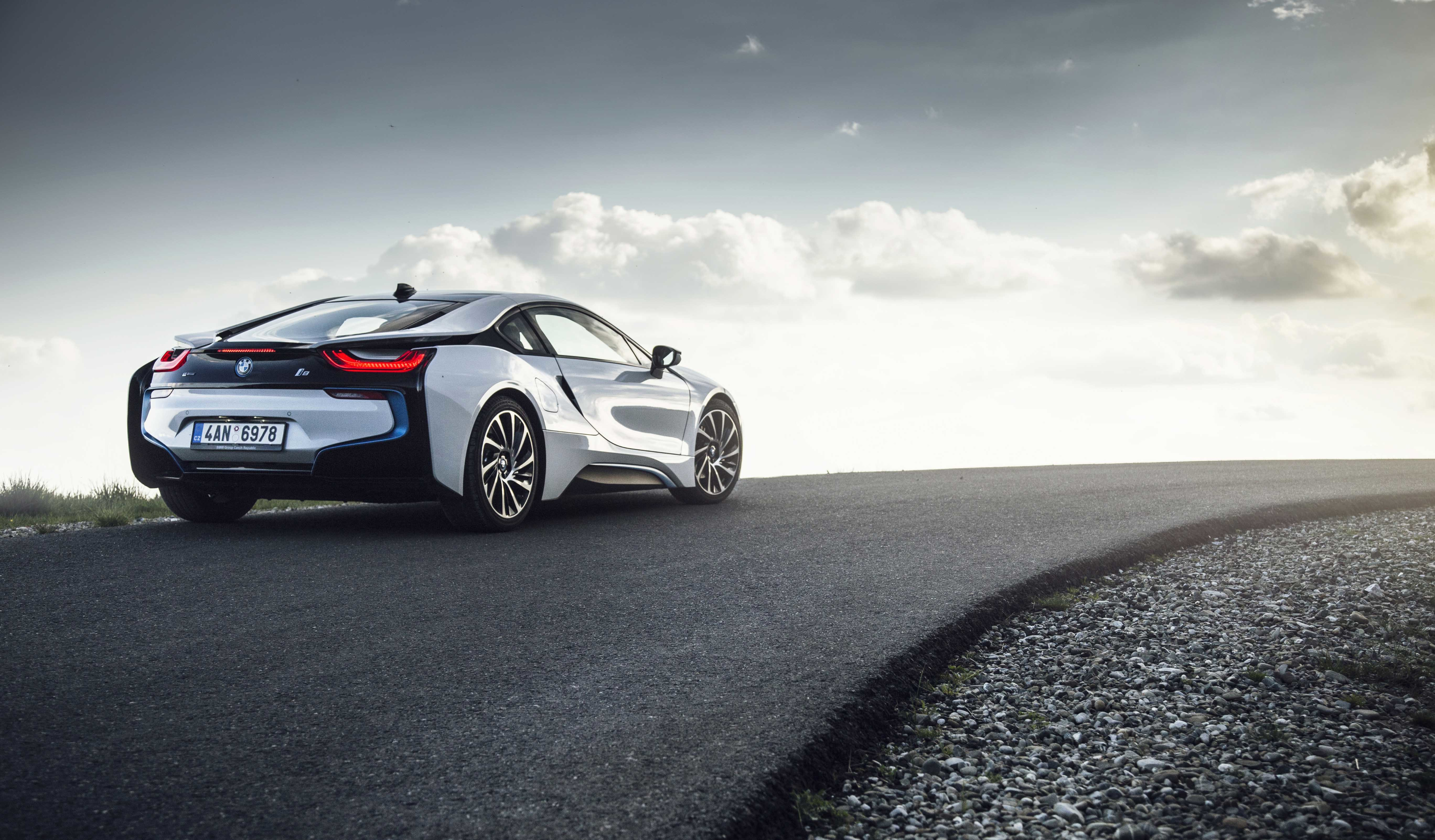 84092 download wallpaper Cars, Road, Back View, Rear View, Bmw I8 screensavers and pictures for free
