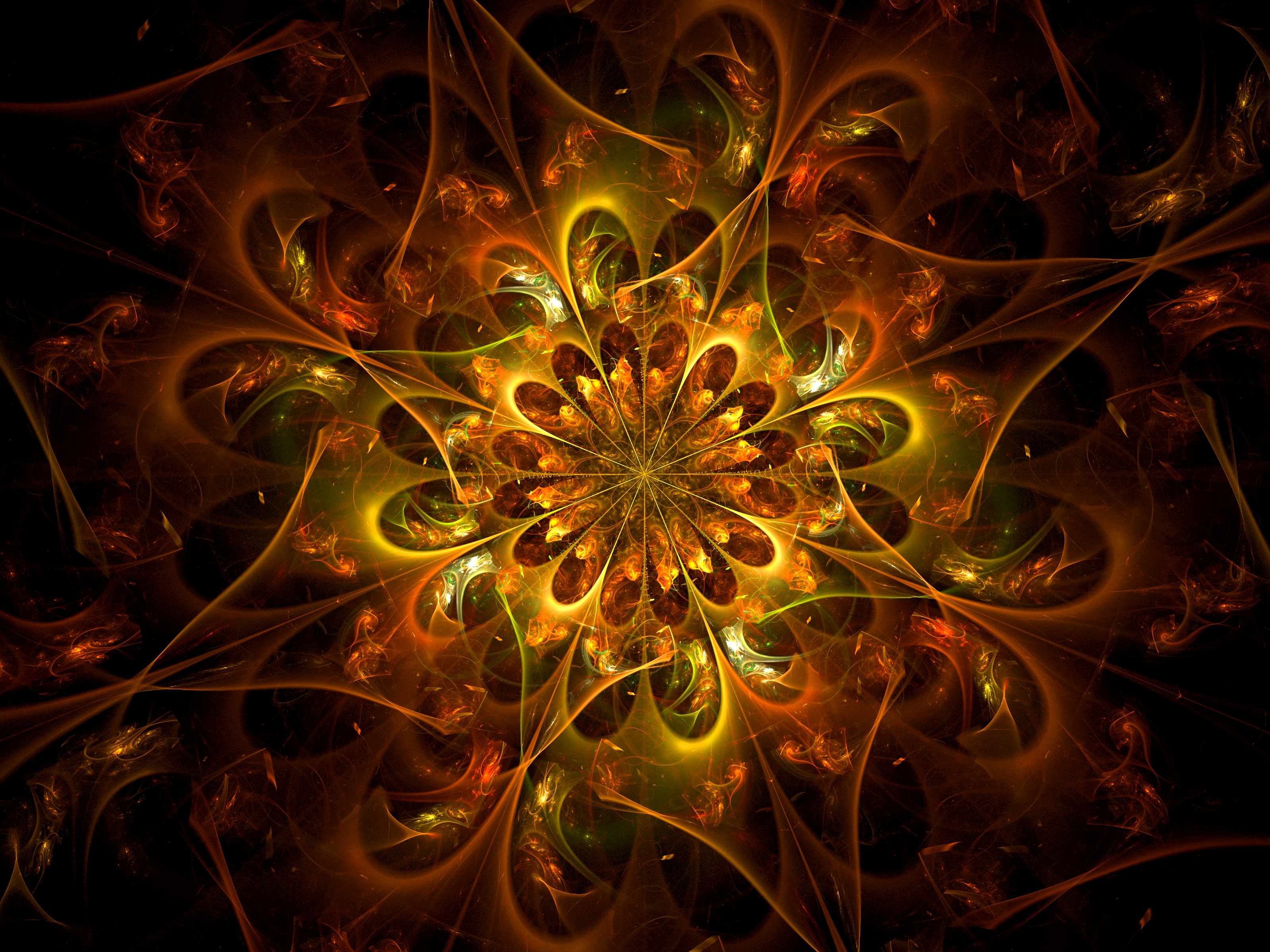 127081 download wallpaper Abstract, Fractal, Pattern, Bright, Confused, Intricate screensavers and pictures for free