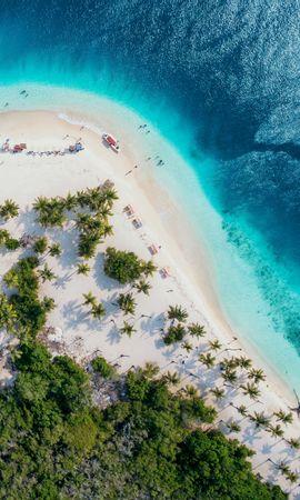 110925壁紙のダウンロード自然, 海洋, 大洋, 上から見る, 海岸, サンド, パームス-スクリーンセーバーと写真を無料で
