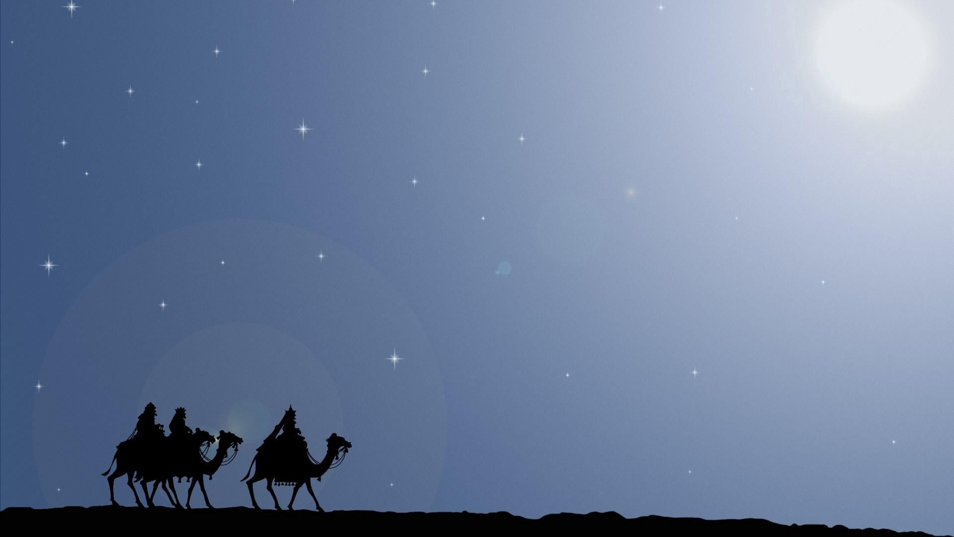 51858 download wallpaper Vector, Stroll, Sky, Riders, Camels screensavers and pictures for free