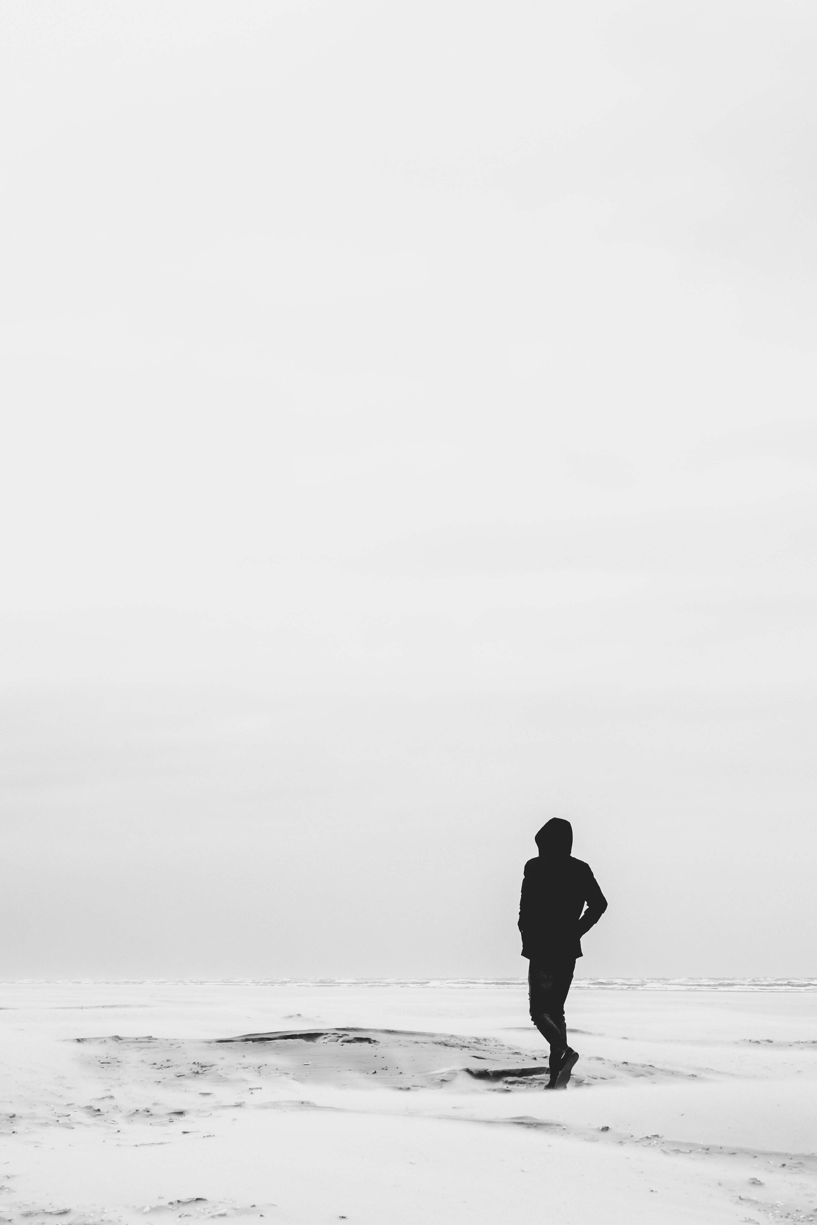 149318 Заставки и Обои Пустыня на телефон. Скачать Разное, Песок, Пустыня, Чб, Одиночество, Одинокий картинки бесплатно