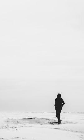 149318 Заставки и Обои Пустыня на телефон. Скачать Разное, Одиночество, Чб, Песок, Одинокий, Пустыня картинки бесплатно