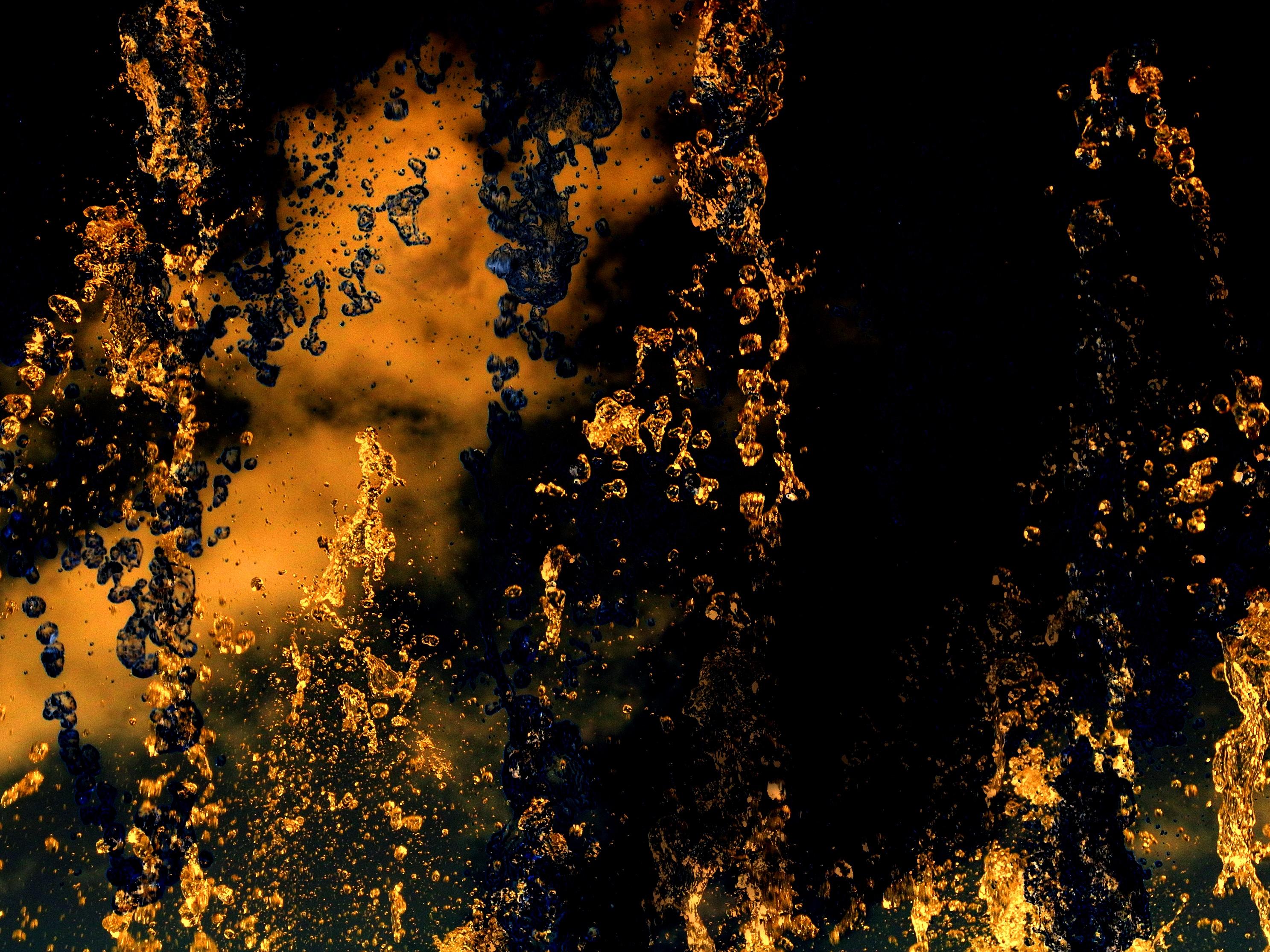 103649 download wallpaper Macro, Spray, Splash, Dark, Liquid screensavers and pictures for free