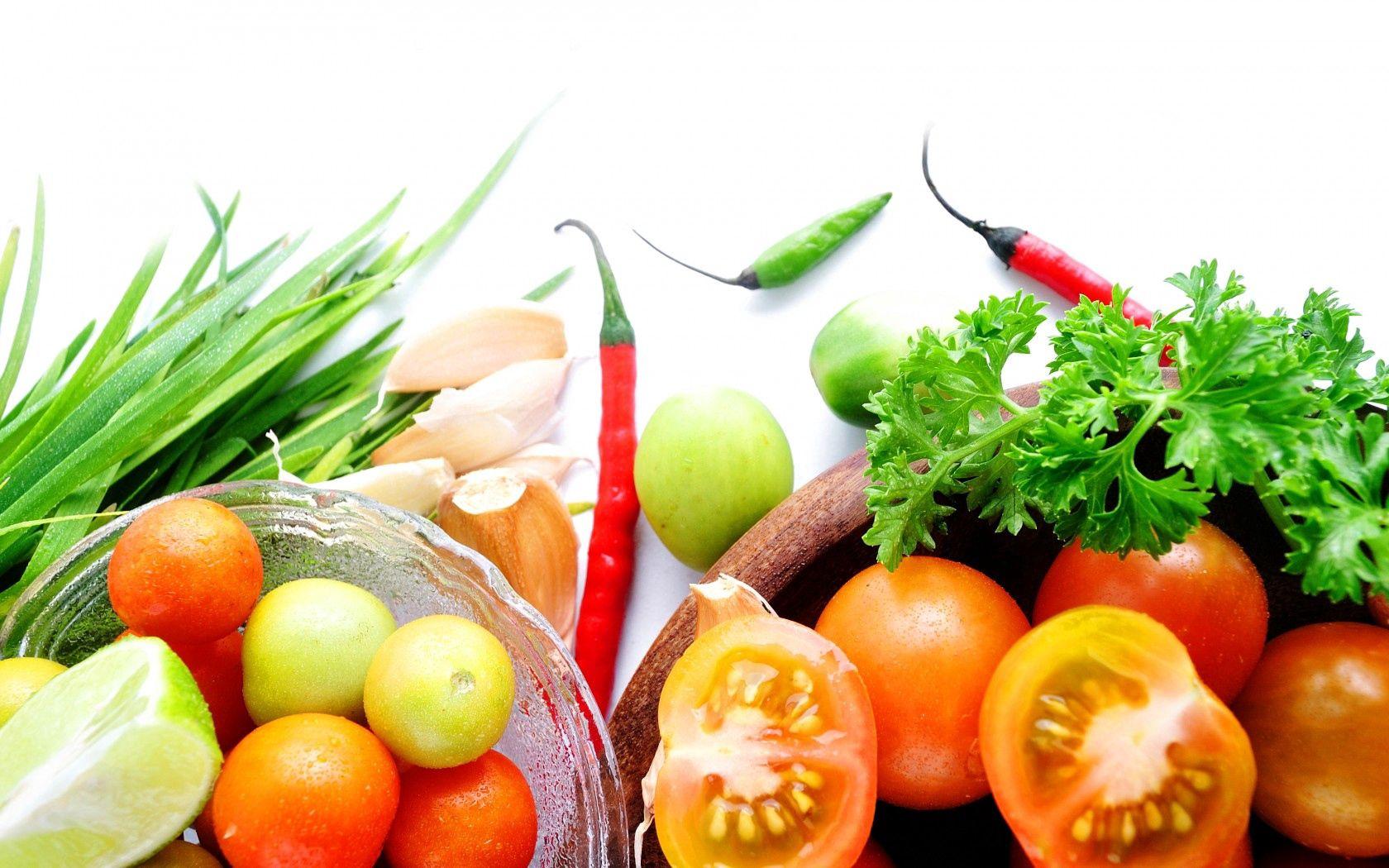 134716 Заставки и Обои Овощи на телефон. Скачать Еда, Овощи, Зелень, Чеснок, Лук, Помидоры, Тарелки, Красный Перец картинки бесплатно