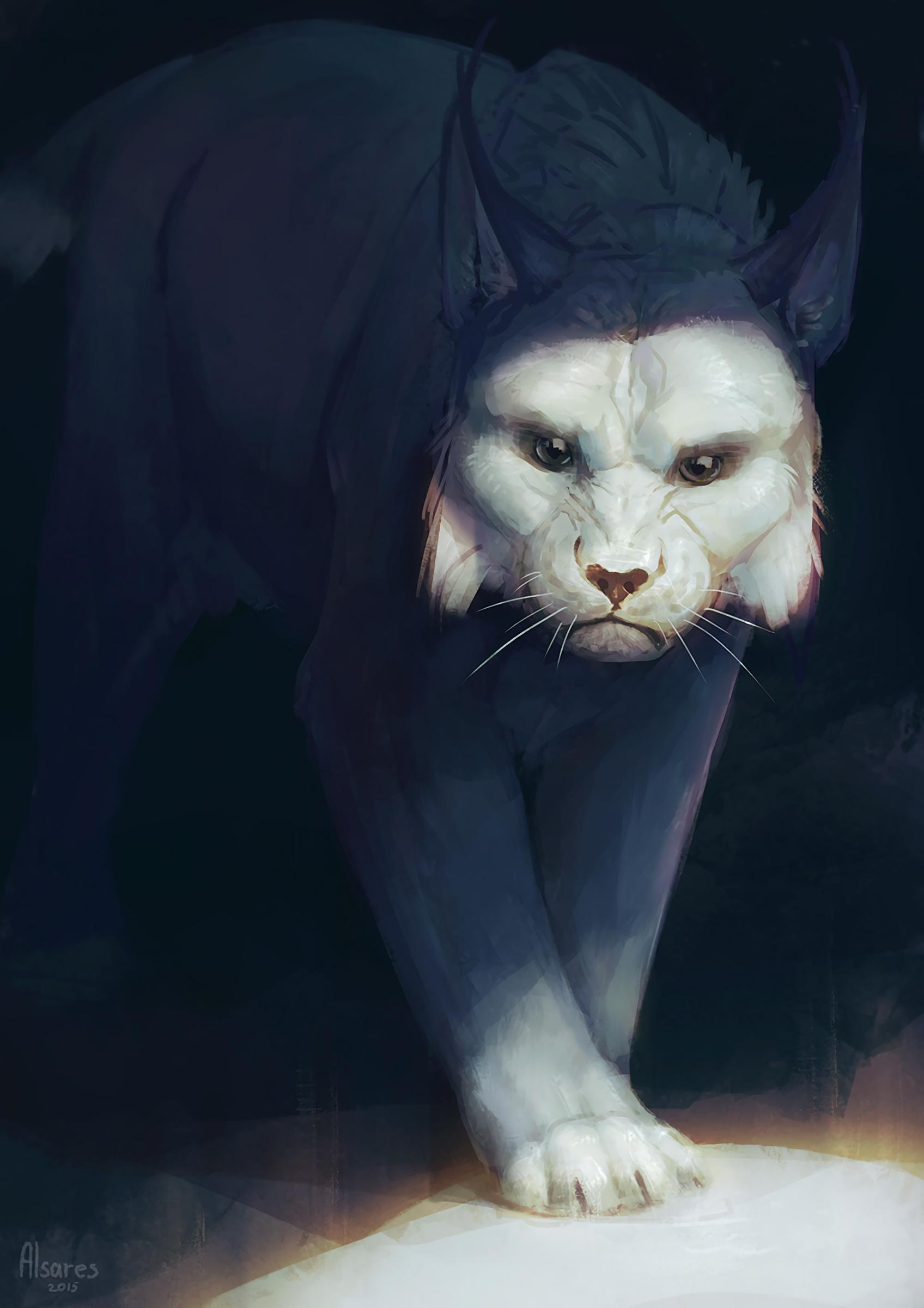 105204 download wallpaper Iris, Predator, Big Cat, Art screensavers and pictures for free