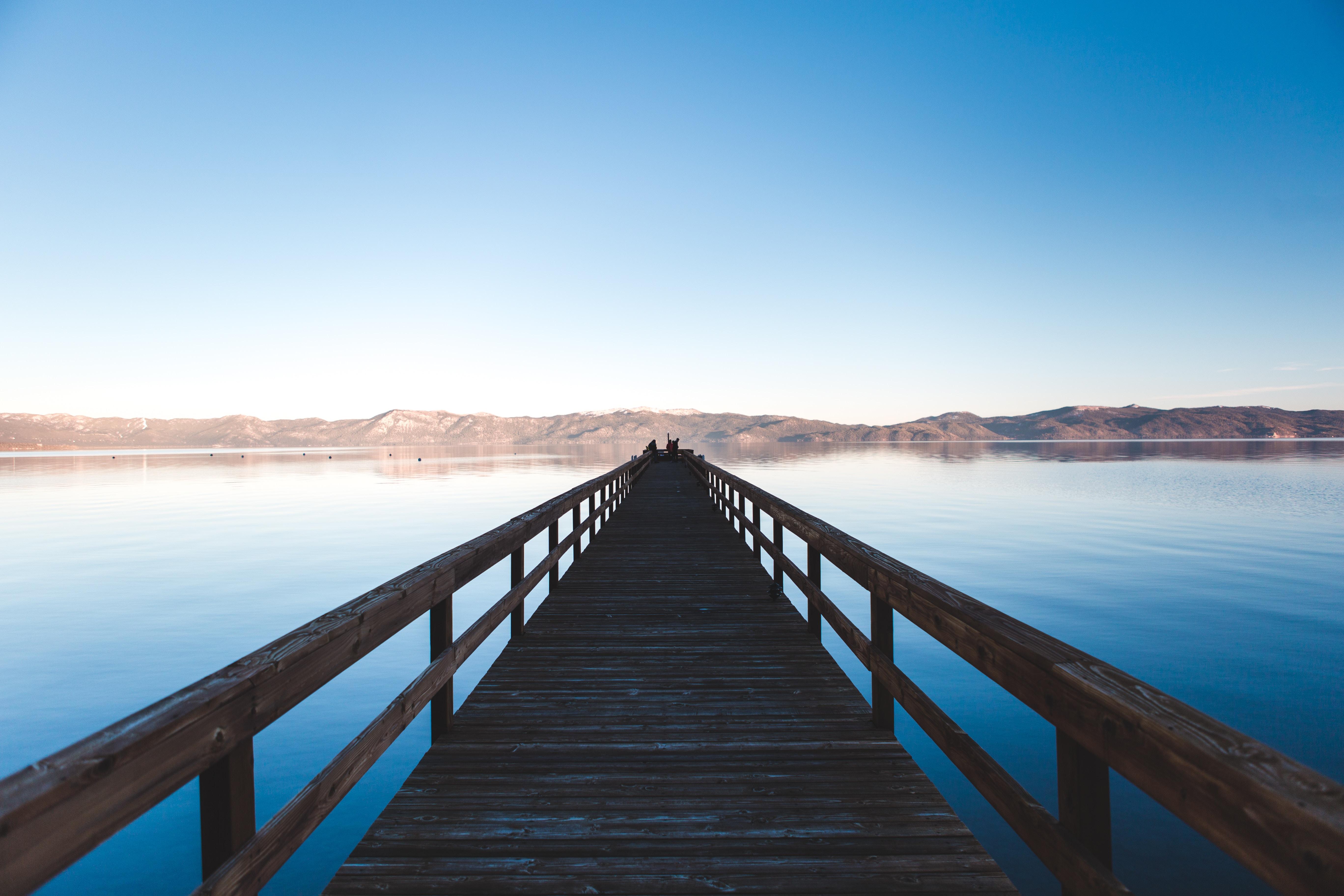 130930 Hintergrundbild 128x160 kostenlos auf deinem Handy, lade Bilder Natur, Sky, Horizont, Brücke 128x160 auf dein Handy herunter