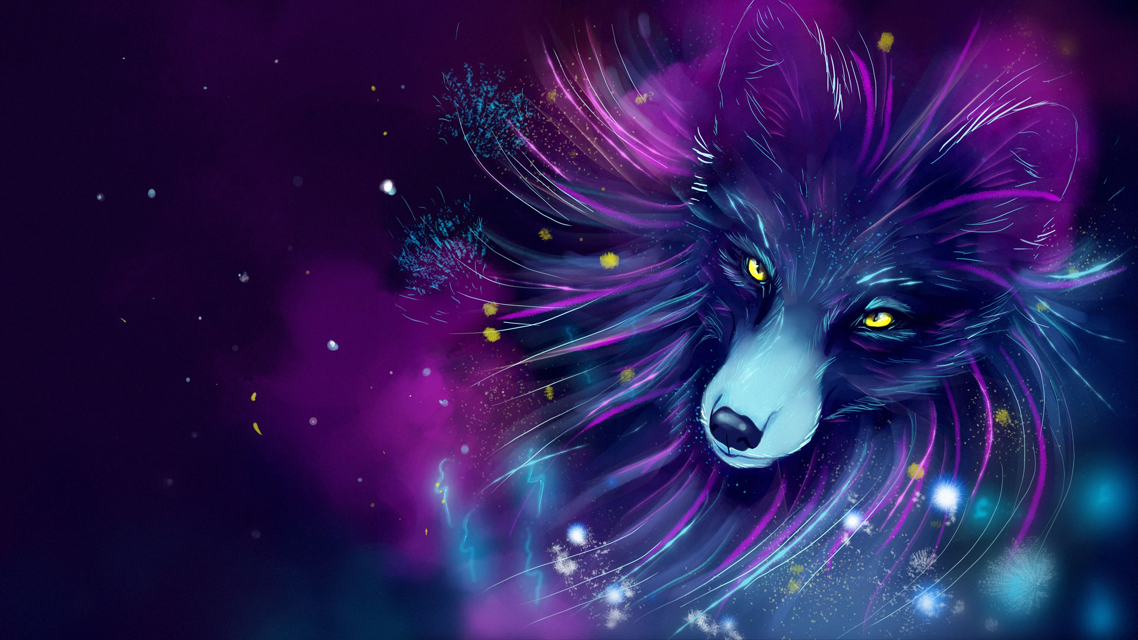 101651 Screensavers and Wallpapers Purple for phone. Download Violet, Art, Fox, Space, Purple, Cosmic pictures for free