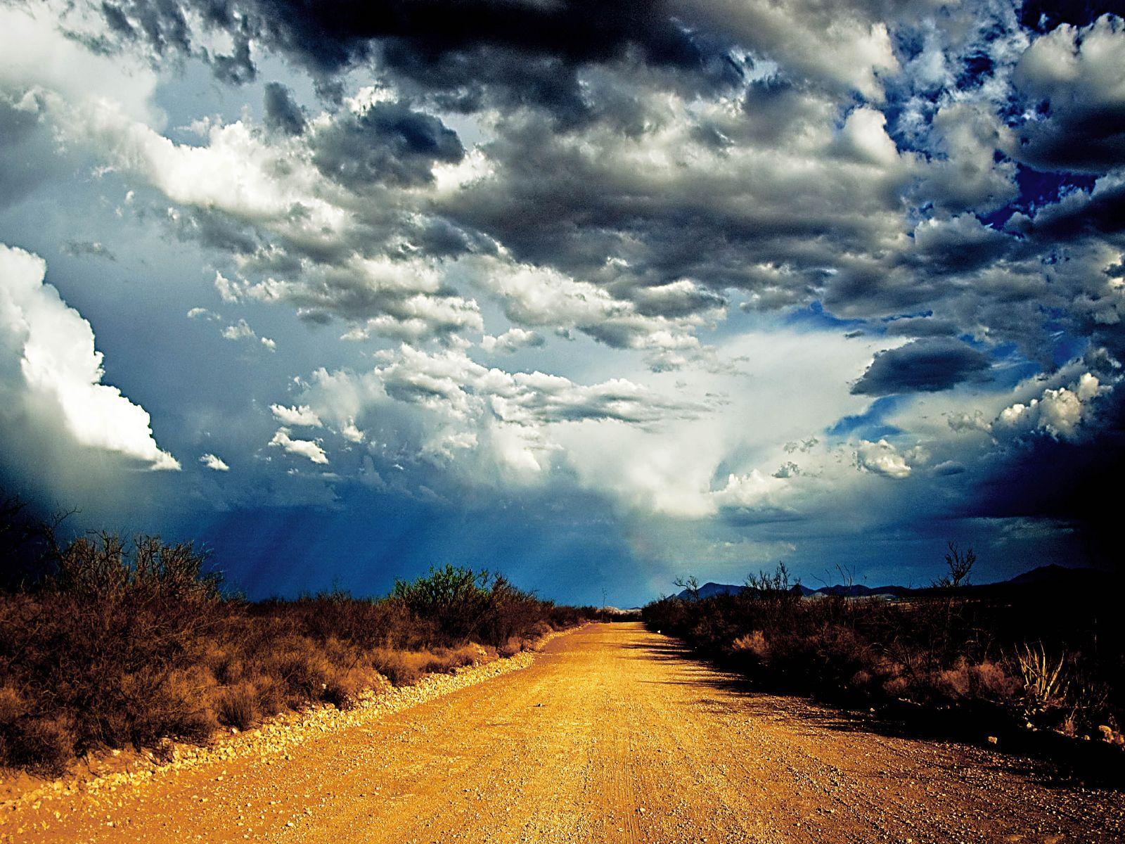 10009 скачать обои Пейзаж, Небо, Дороги, Облака - заставки и картинки бесплатно