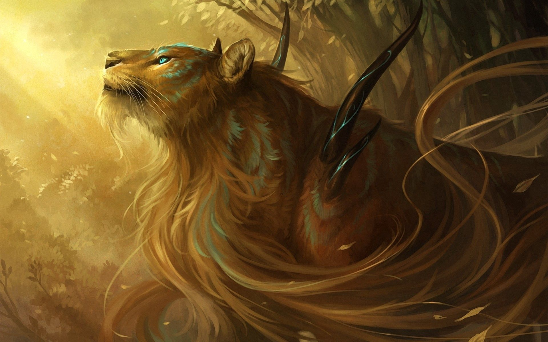 76889 download wallpaper Fantasy, Tiger, Thorns, Spikes, Being, Creature screensavers and pictures for free
