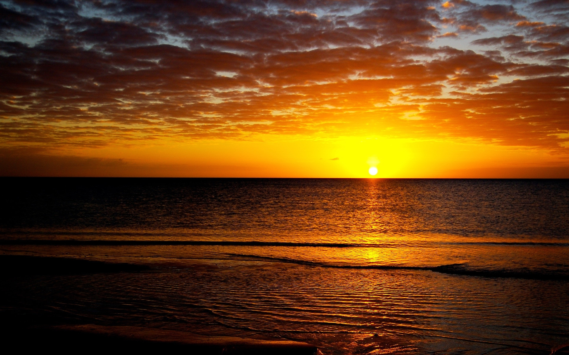 6430 download wallpaper Landscape, Sunset, Sky, Sea, Sun screensavers and pictures for free